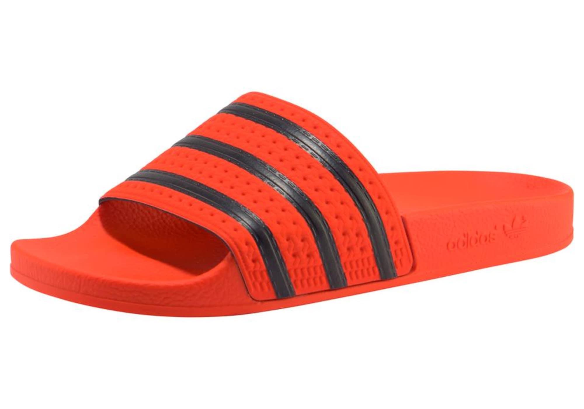 Pantofle Adilette oranžová černá ADIDAS ORIGINALS