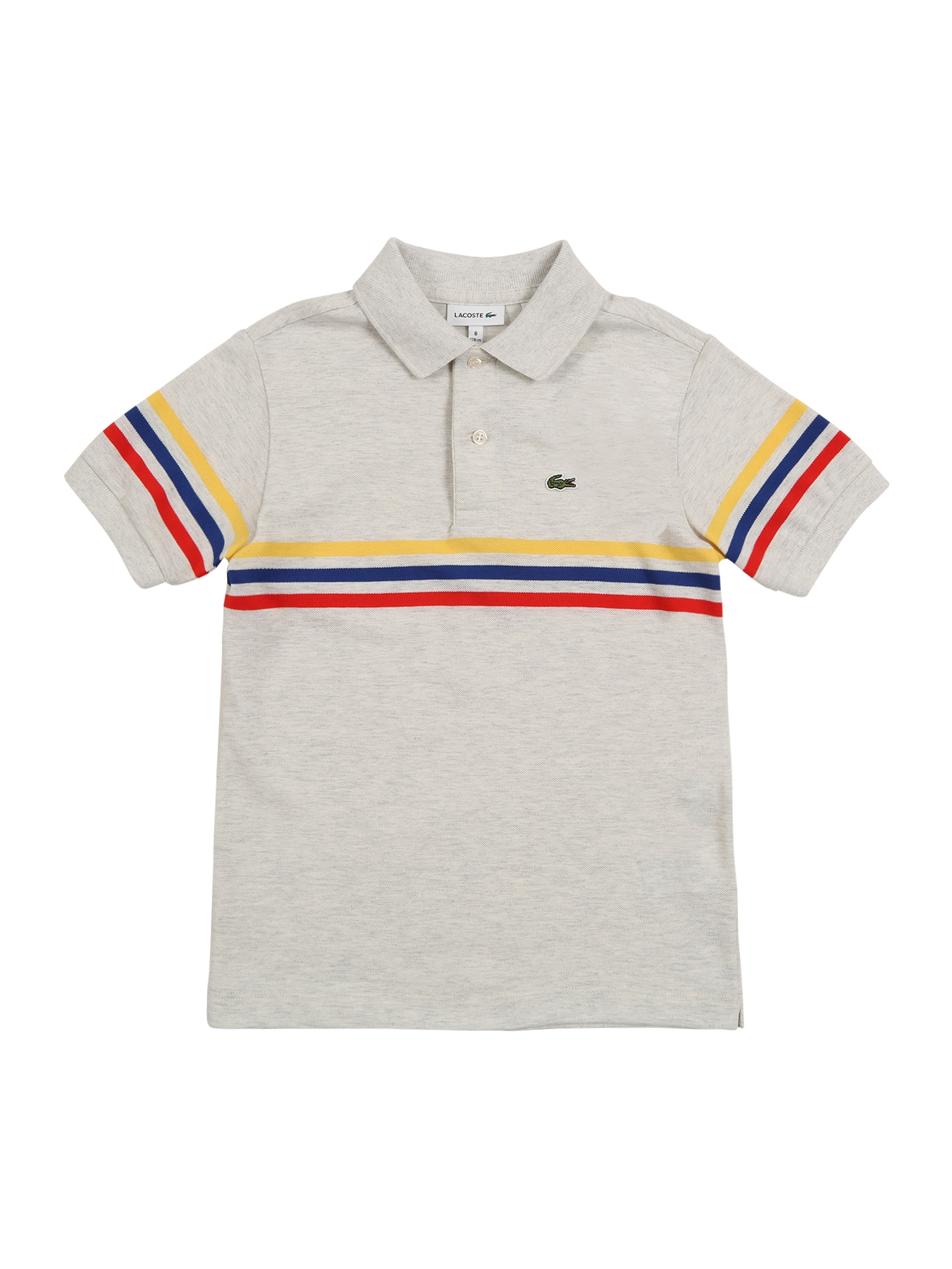 LACOSTE Marškinėliai pilka / kremo