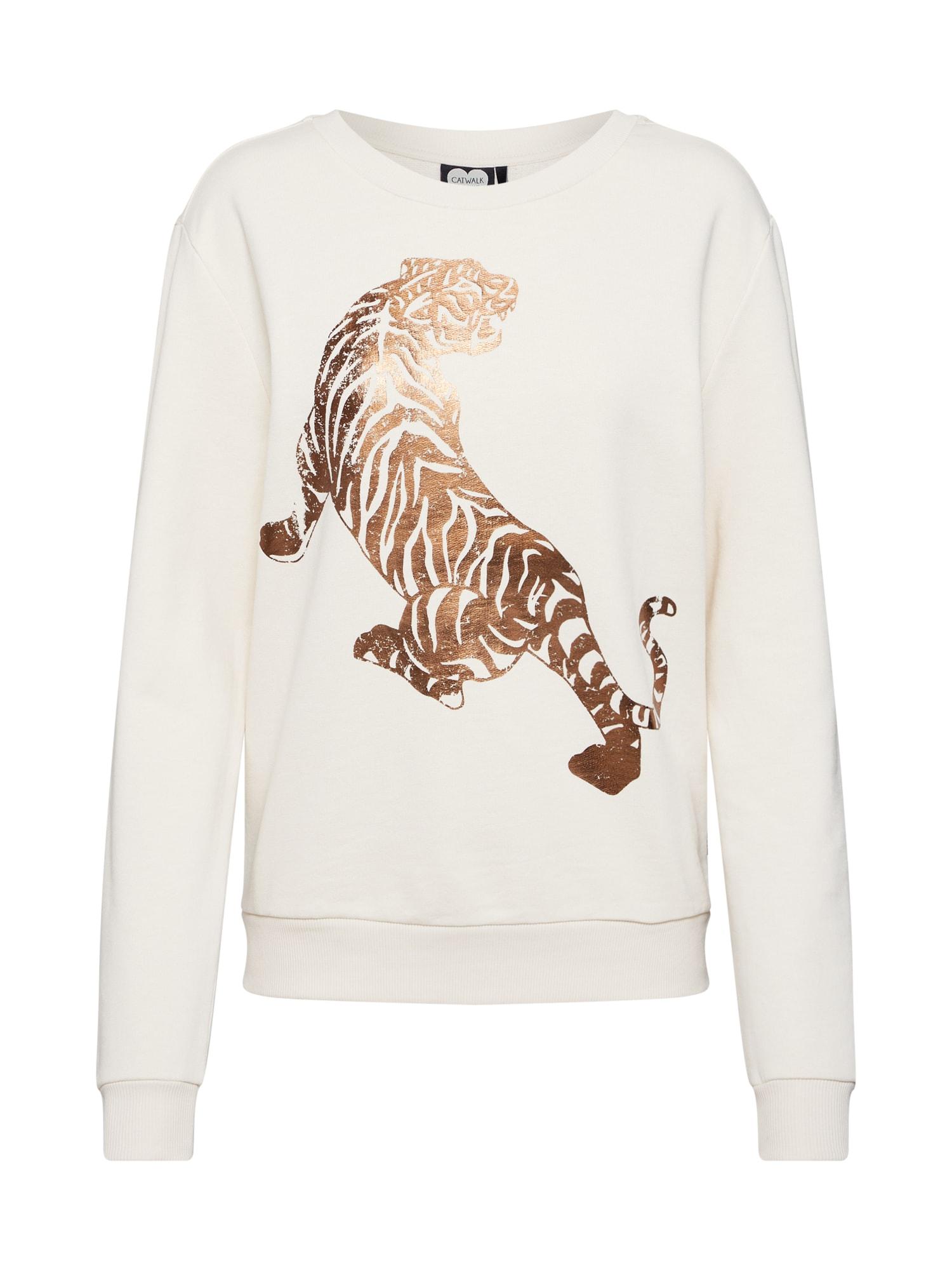 CATWALK JUNKIE Megztinis be užsegimo 'SW White Tiger' balkšva