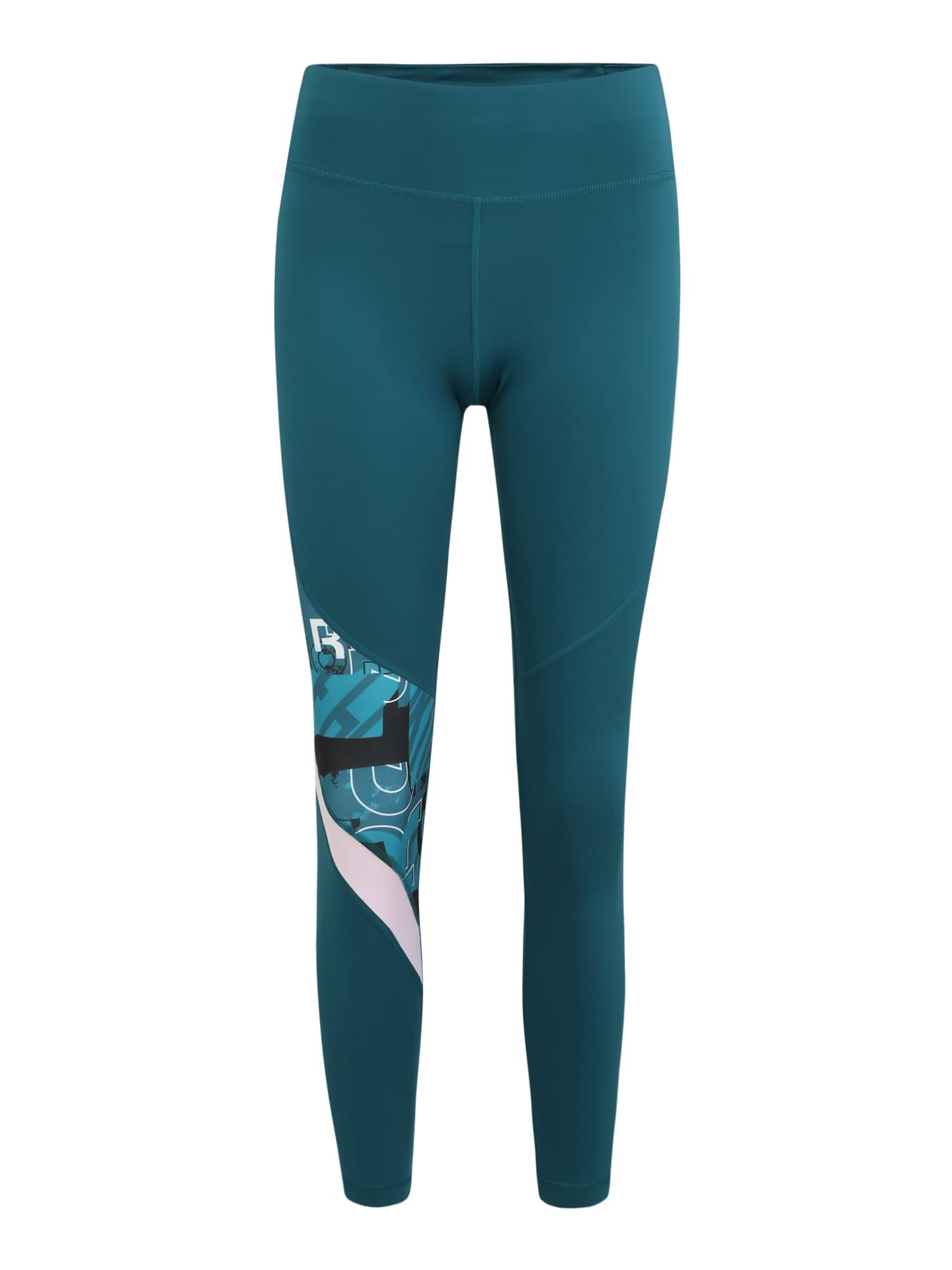 REEBOK Športové nohavice  zmiešané farby / petrolejová