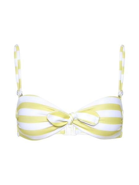 Bademode - Bikini Top 'Aenna' › EDITED › gelb weiß  - Onlineshop ABOUT YOU