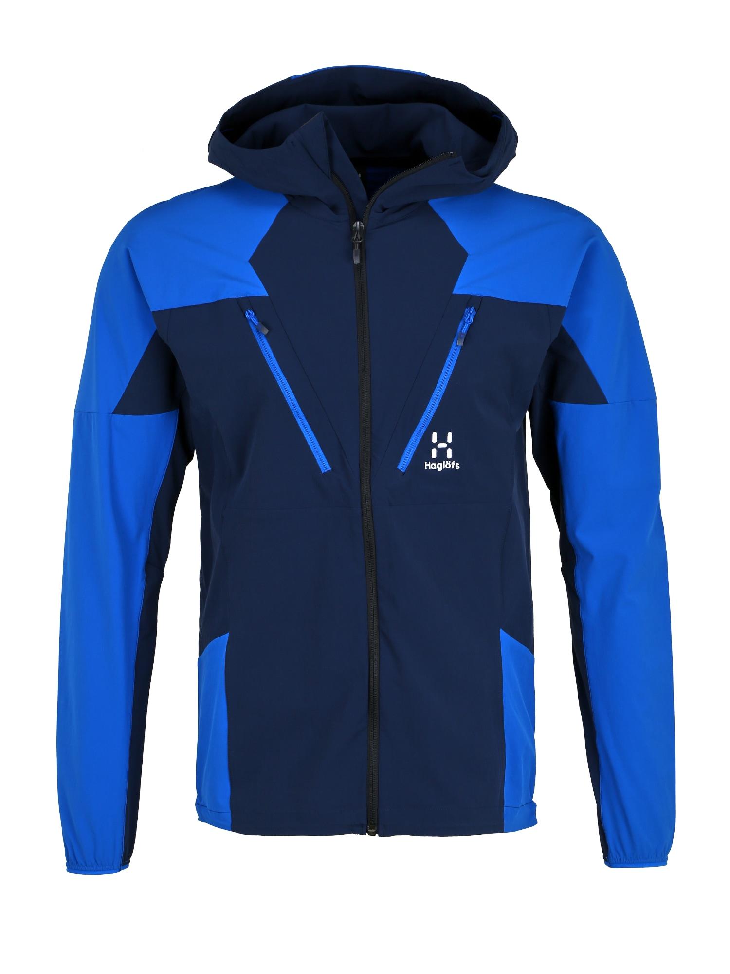 Haglöfs Sportinė striukė 'Tegus' tamsiai mėlyna / mėlyna