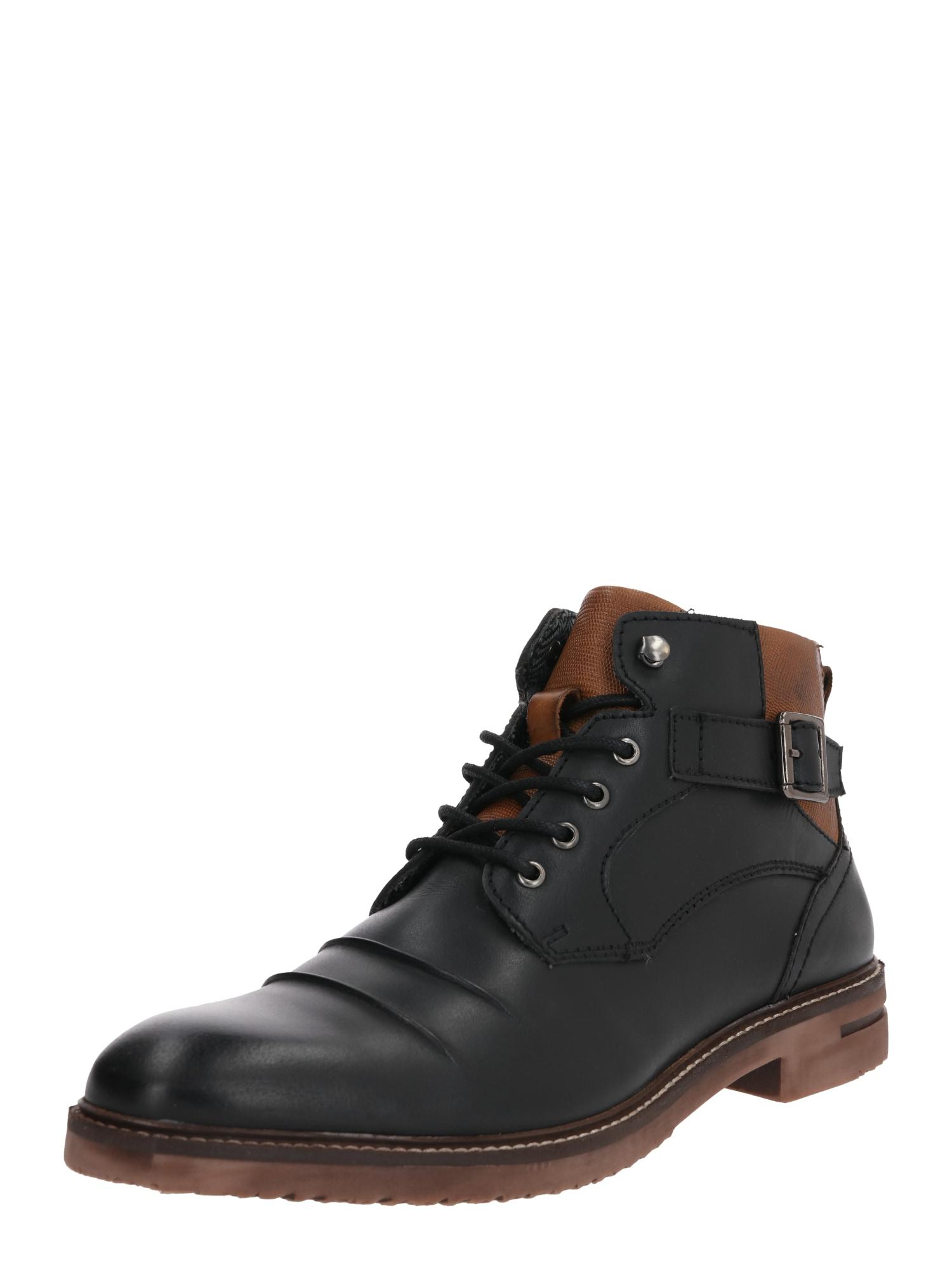 ABOUT YOU Suvarstomieji batai 'Malte' juoda