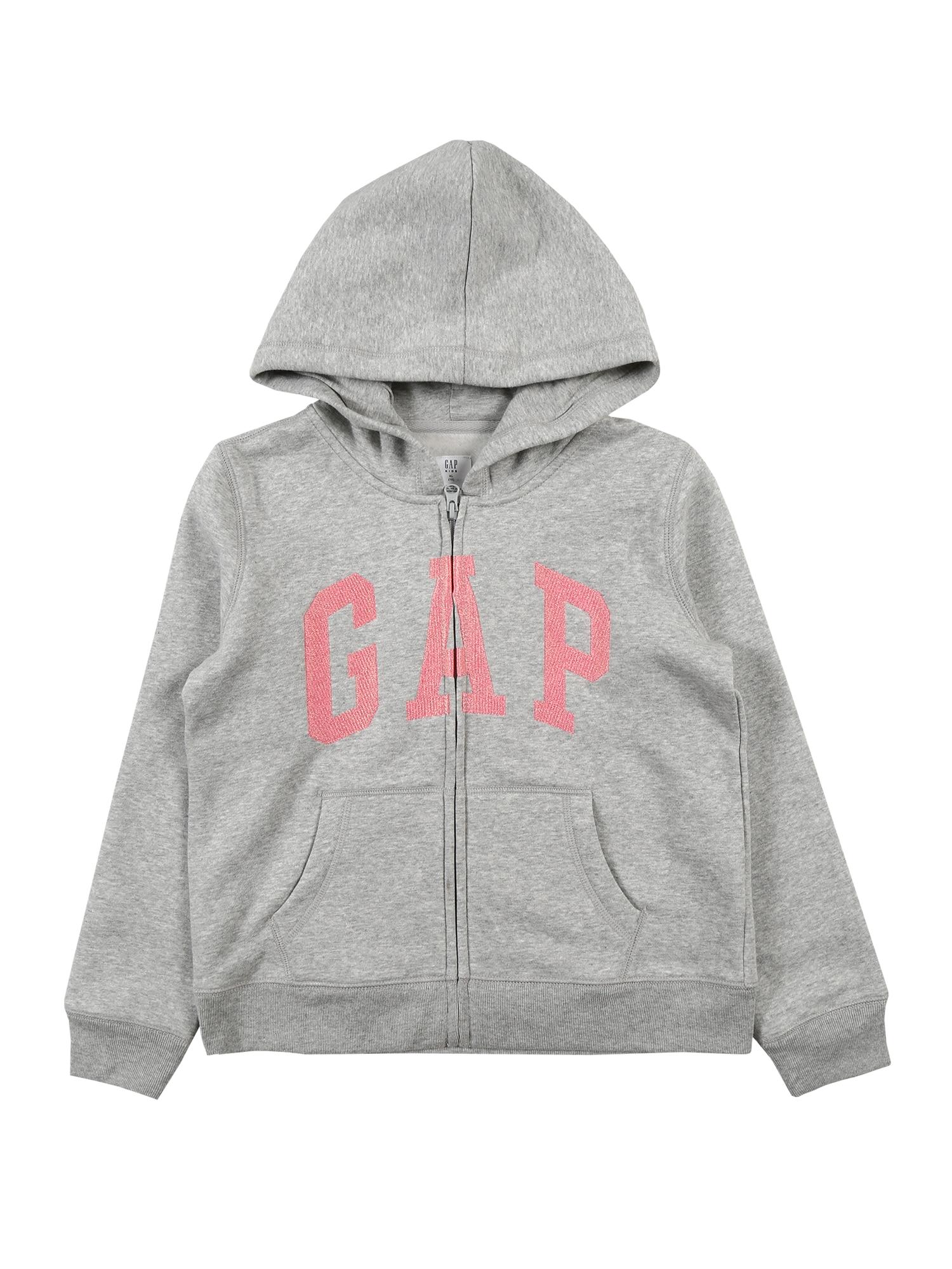 GAP Džemperis šviesiai pilka / rožinė