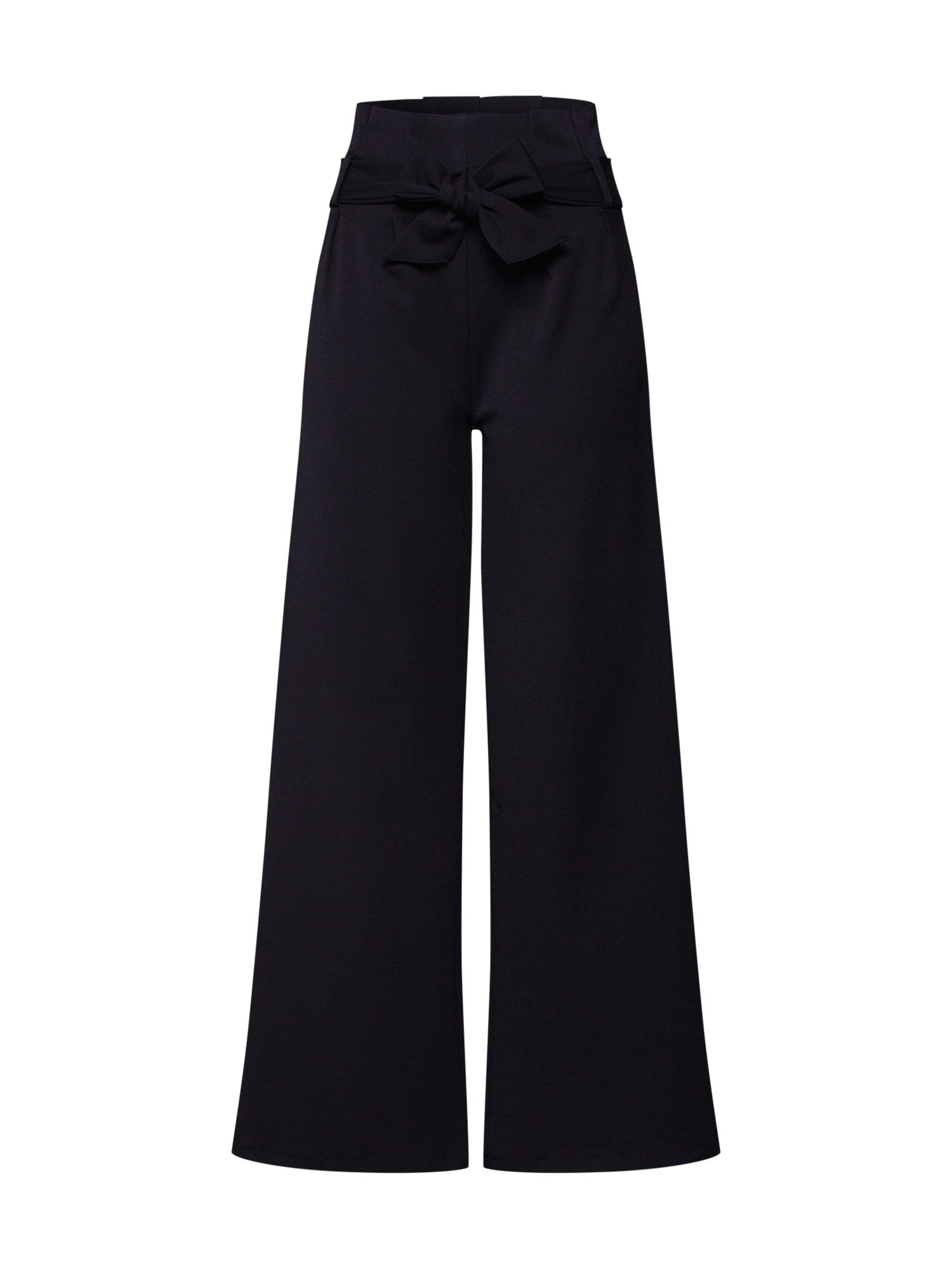 Kalhoty se sklady v pase LISA černá OBJECT