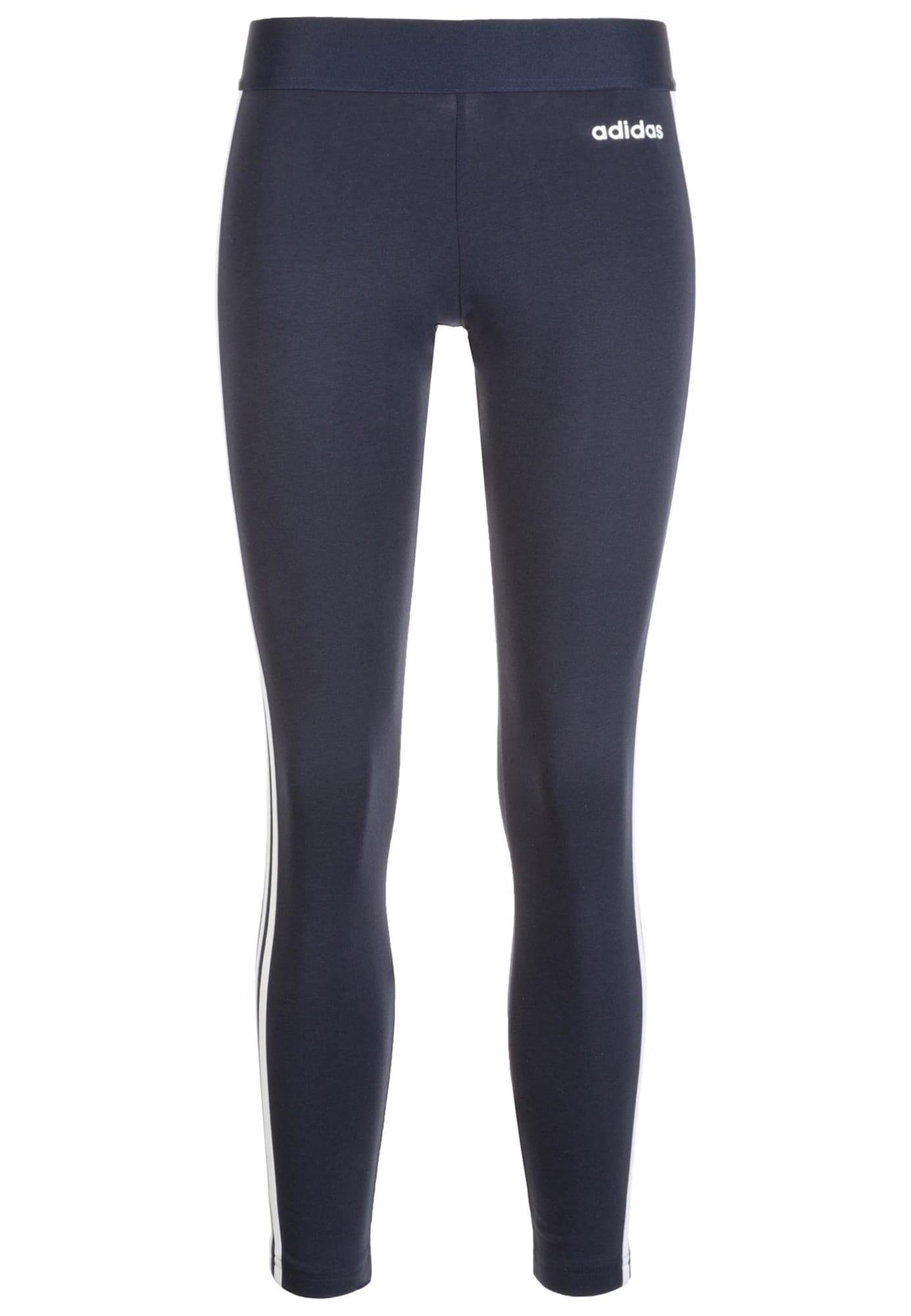 ADIDAS PERFORMANCE Sportinės kelnės 'Essentials Linear' balta / tamsiai mėlyna