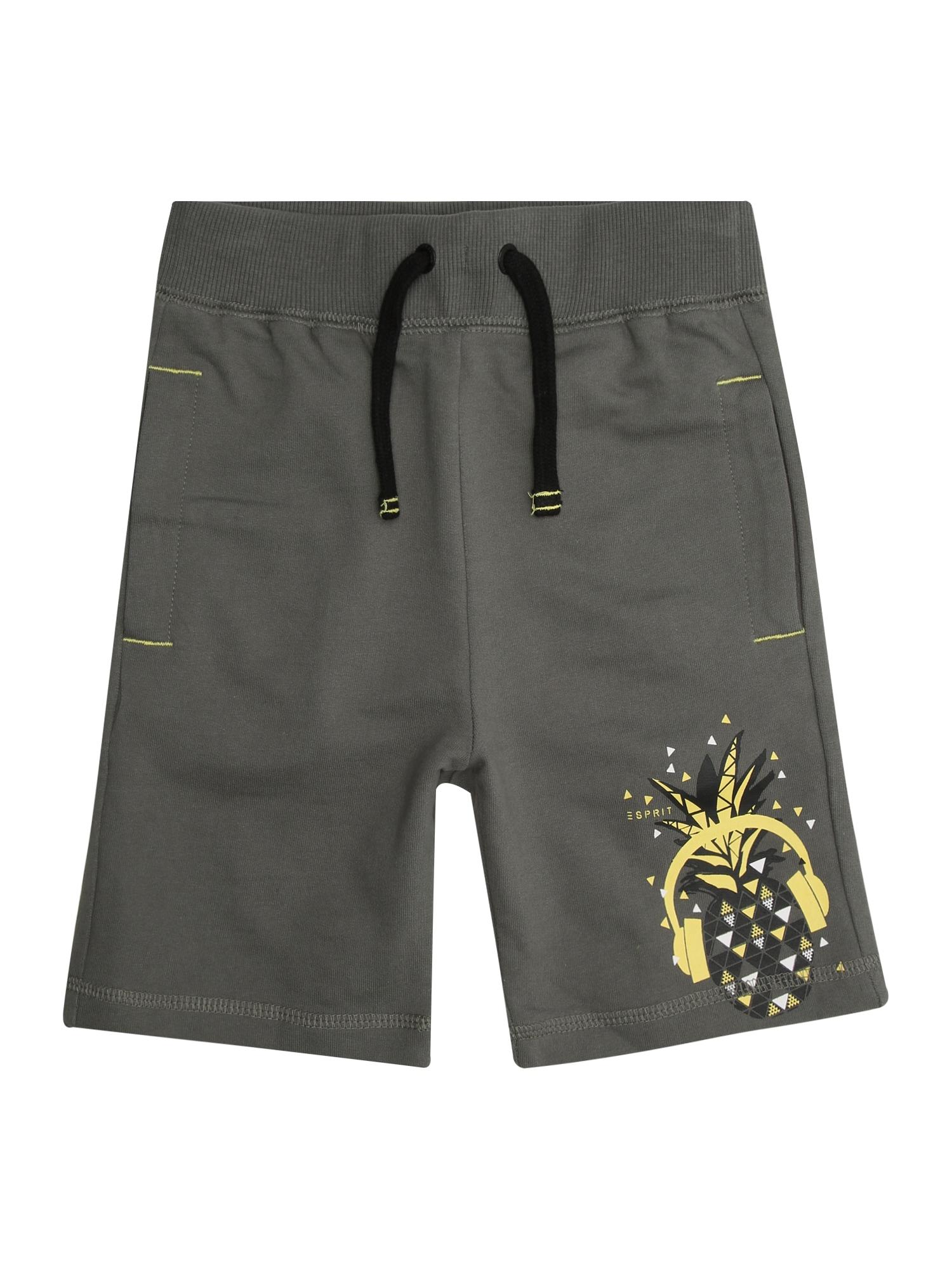 Kalhoty žlutá antracitová ESPRIT