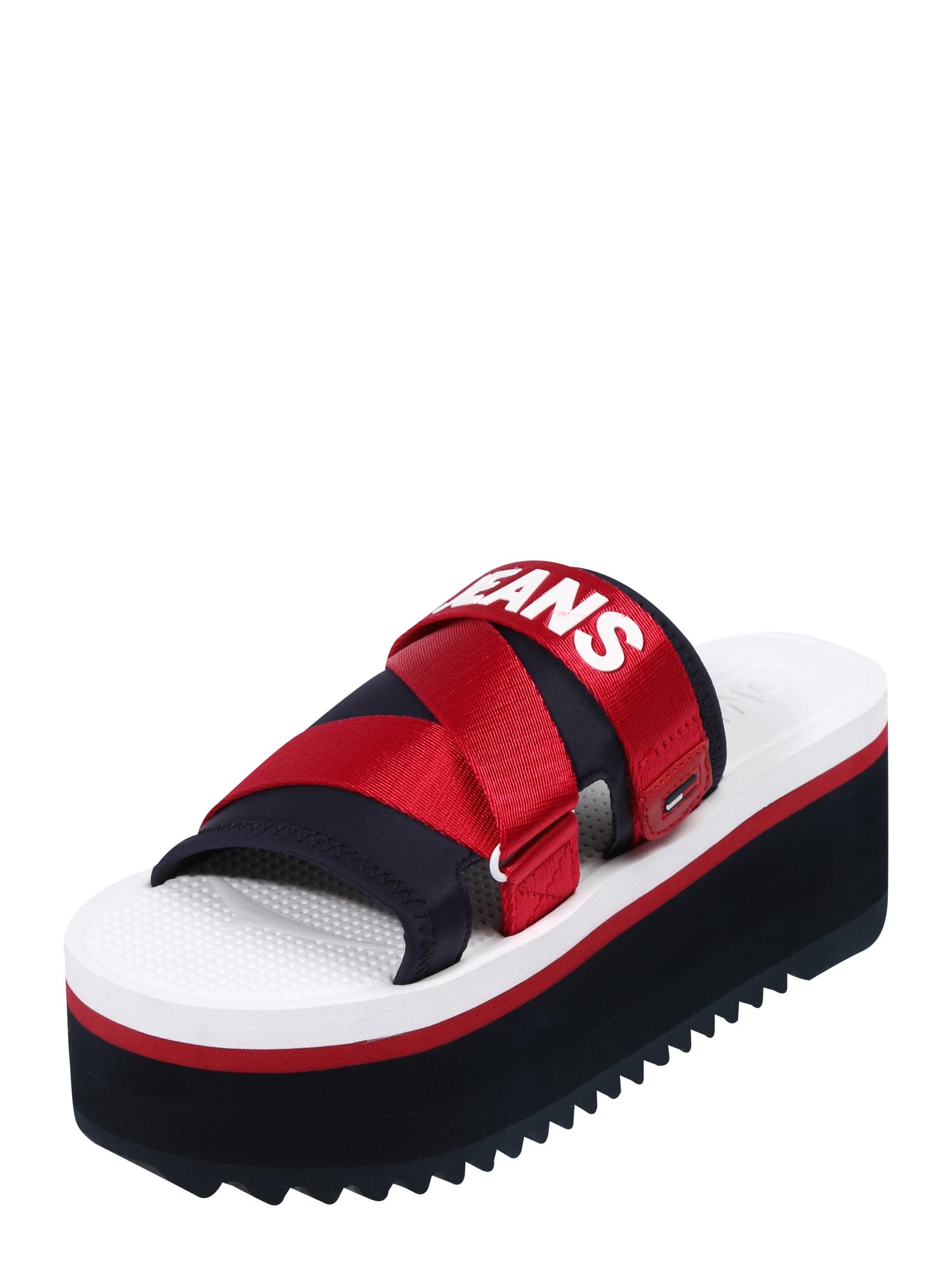 Páskové sandály COLETTE 3D tmavě modrá červená bílá Tommy Jeans