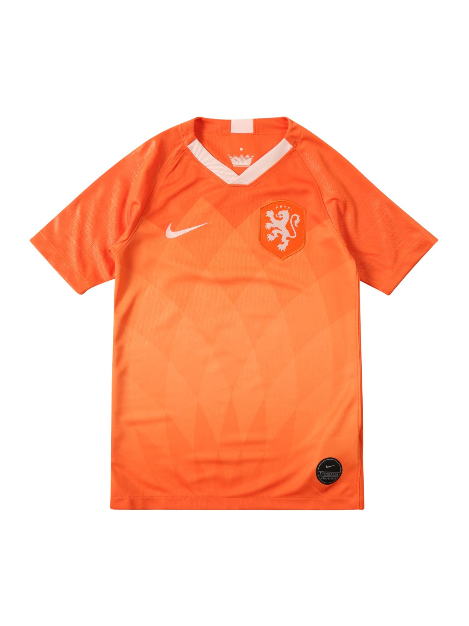 Funkční tričko KNVB Y NK BRT STAD JSY SS HM oranžová NIKE
