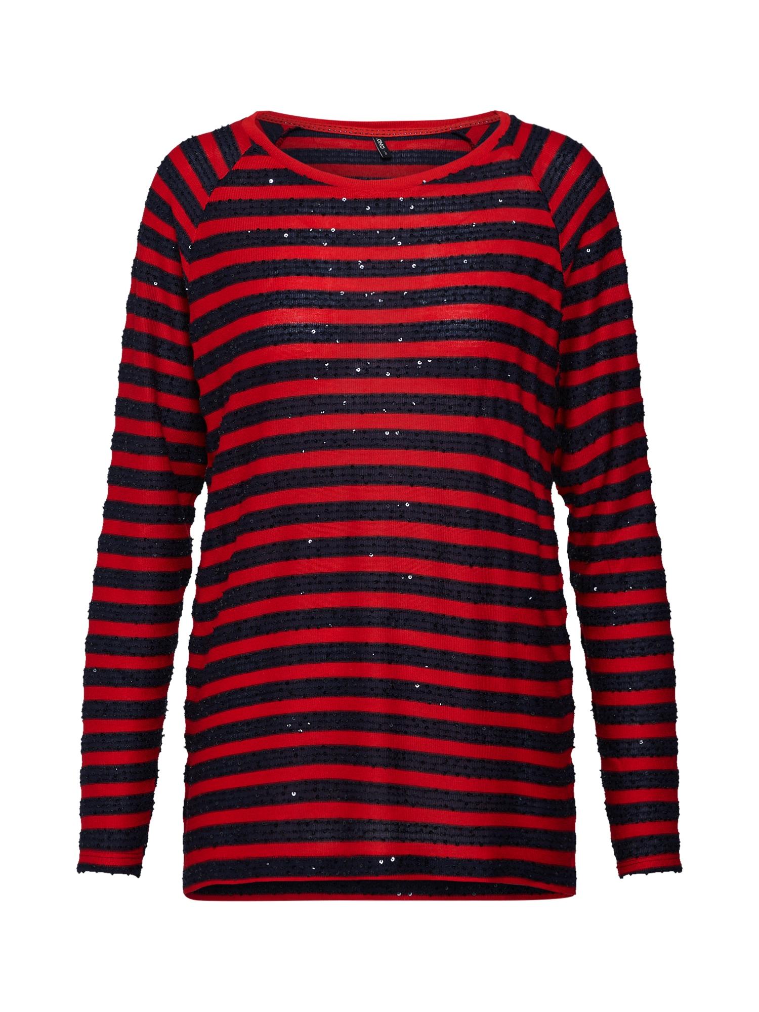 Tričko noční modrá červená ONLY