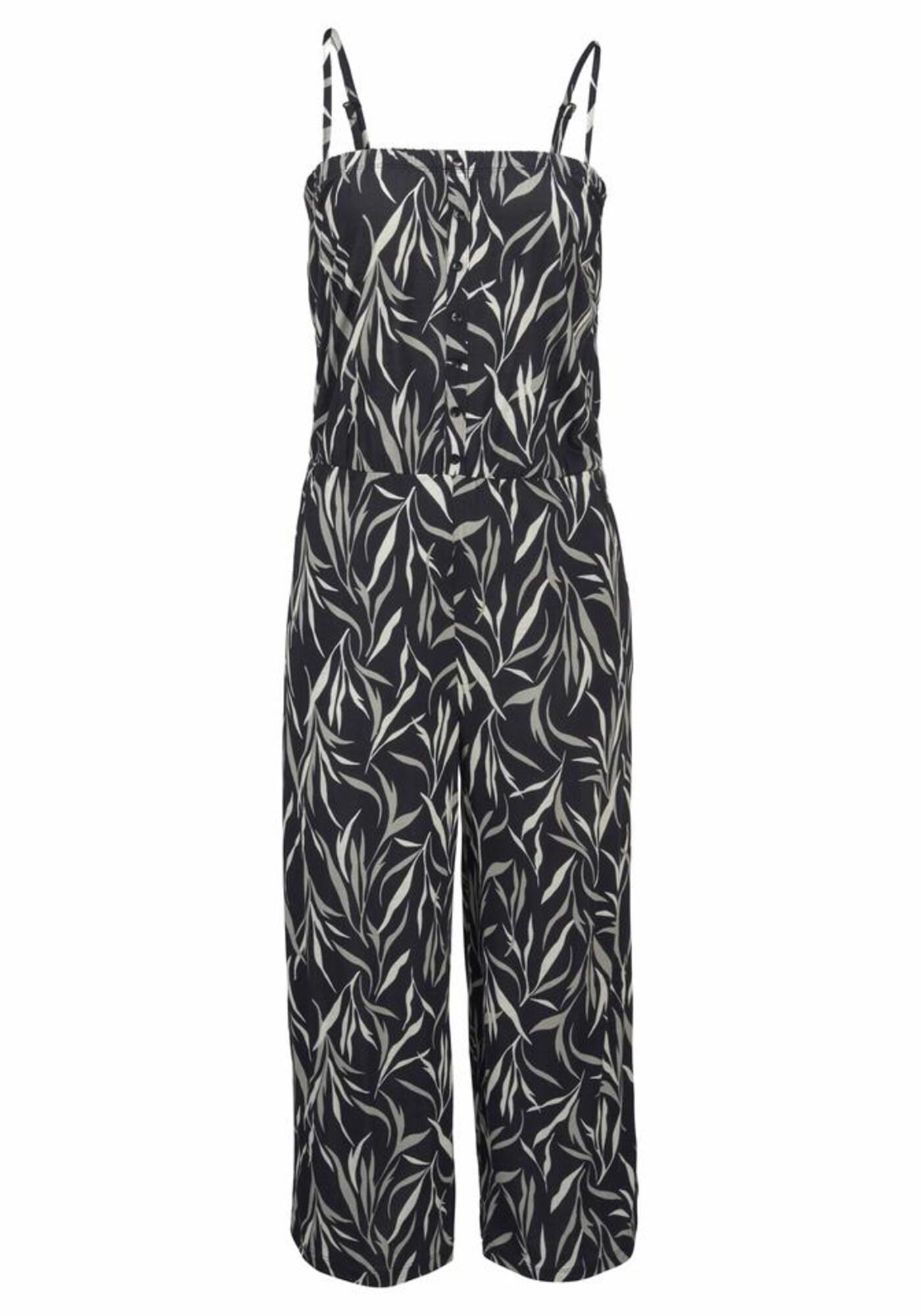 BUFFALO Kombinezono tipo kostiumas juoda / natūrali balta
