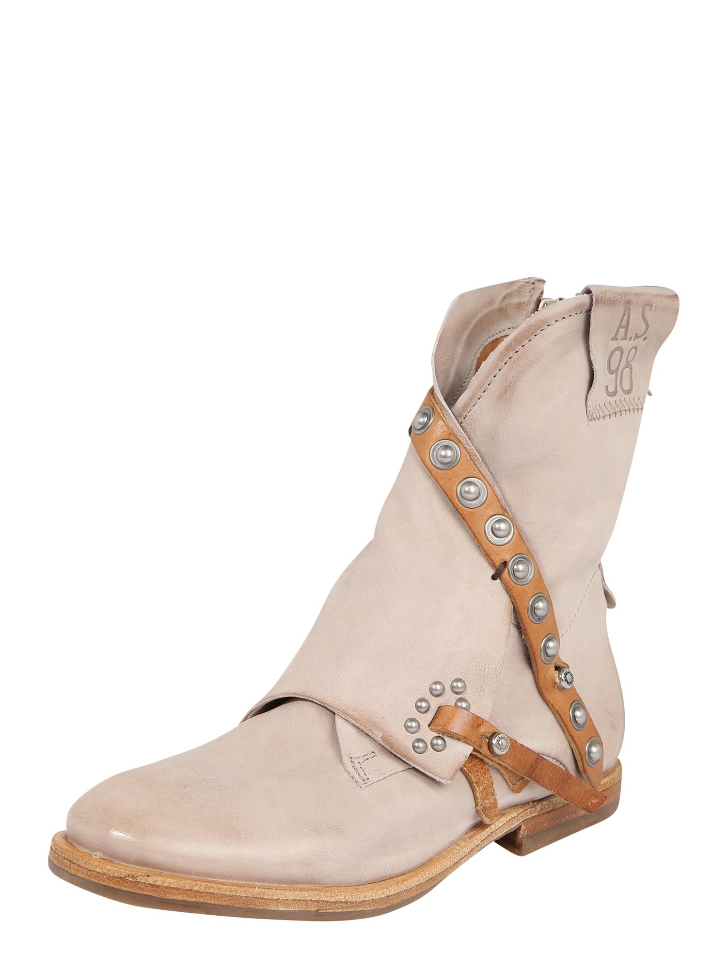 A.S.98 Auliniai batai ruda / gelsvai pilka spalva