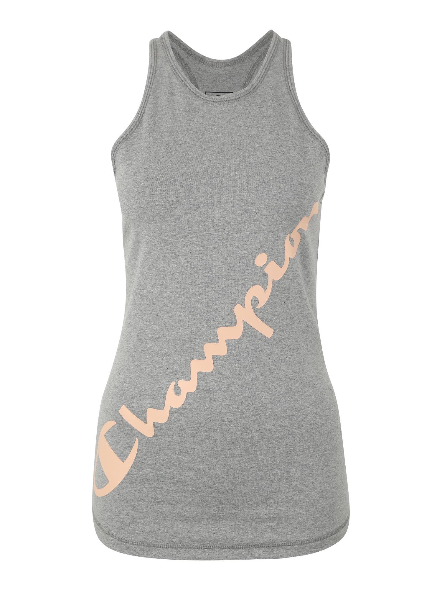 Sportovní top šedá růžová Champion Authentic Athletic Apparel