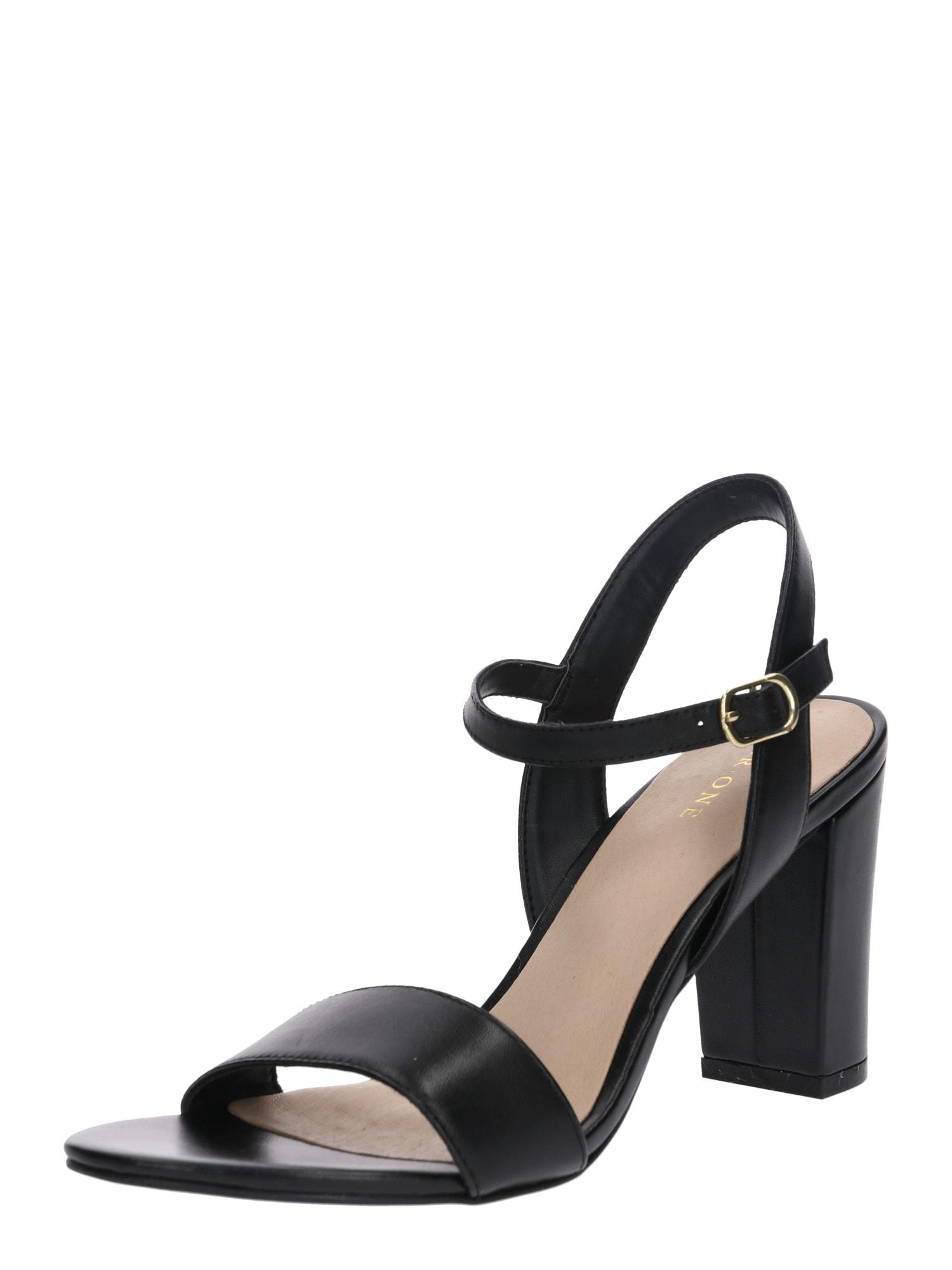Páskové sandály černá Pier One