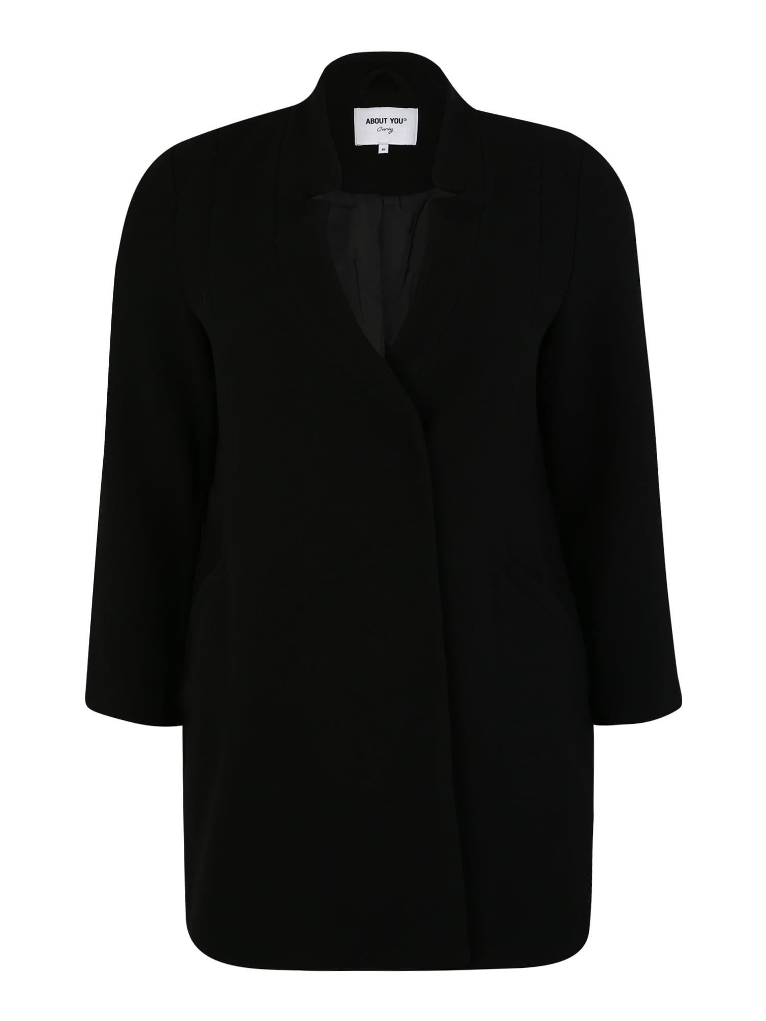 ABOUT YOU Curvy Rudeninis-žieminis paltas 'Cim' juoda