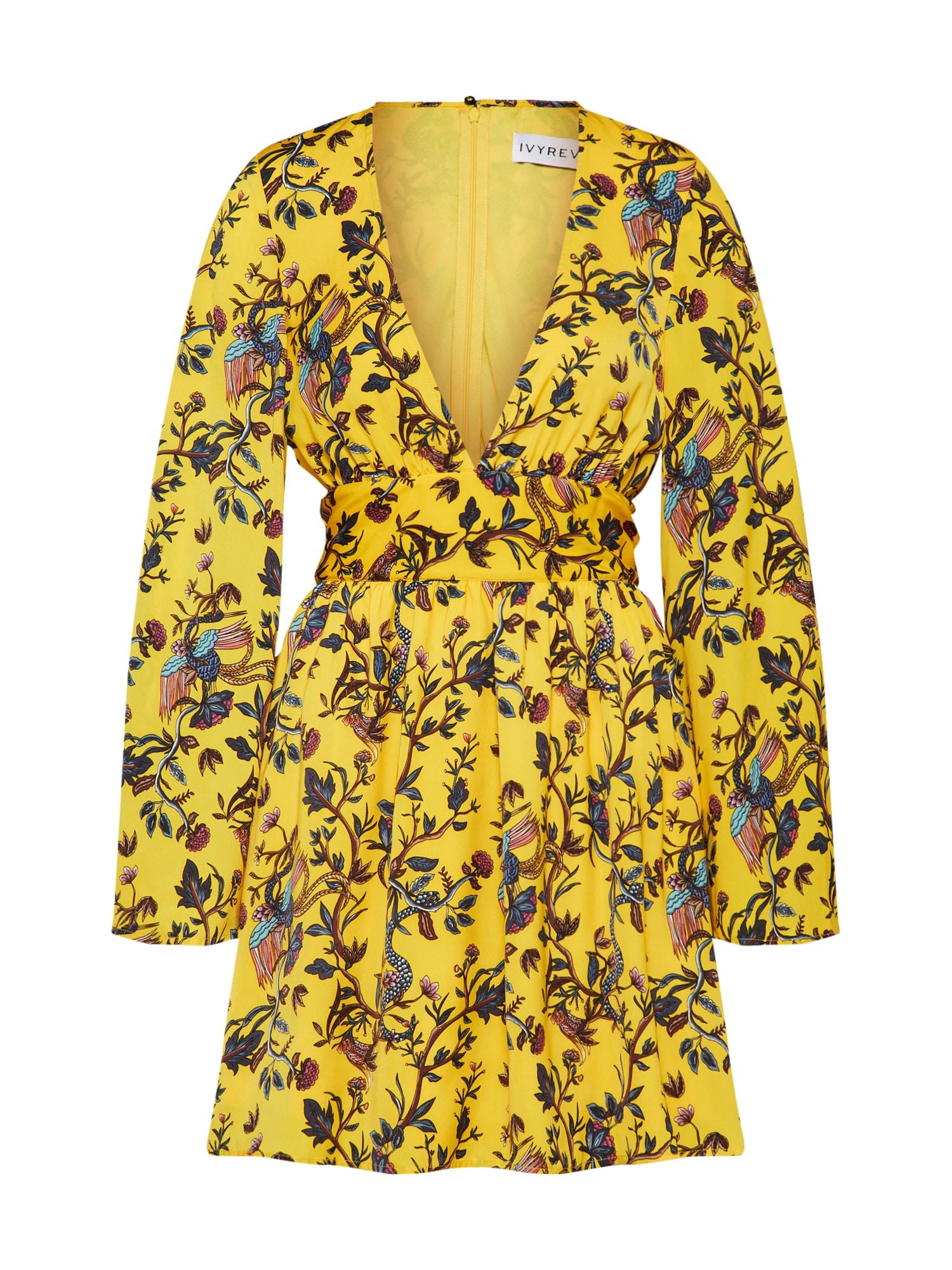 Letní šaty ALANI hořčicová IVYREVEL