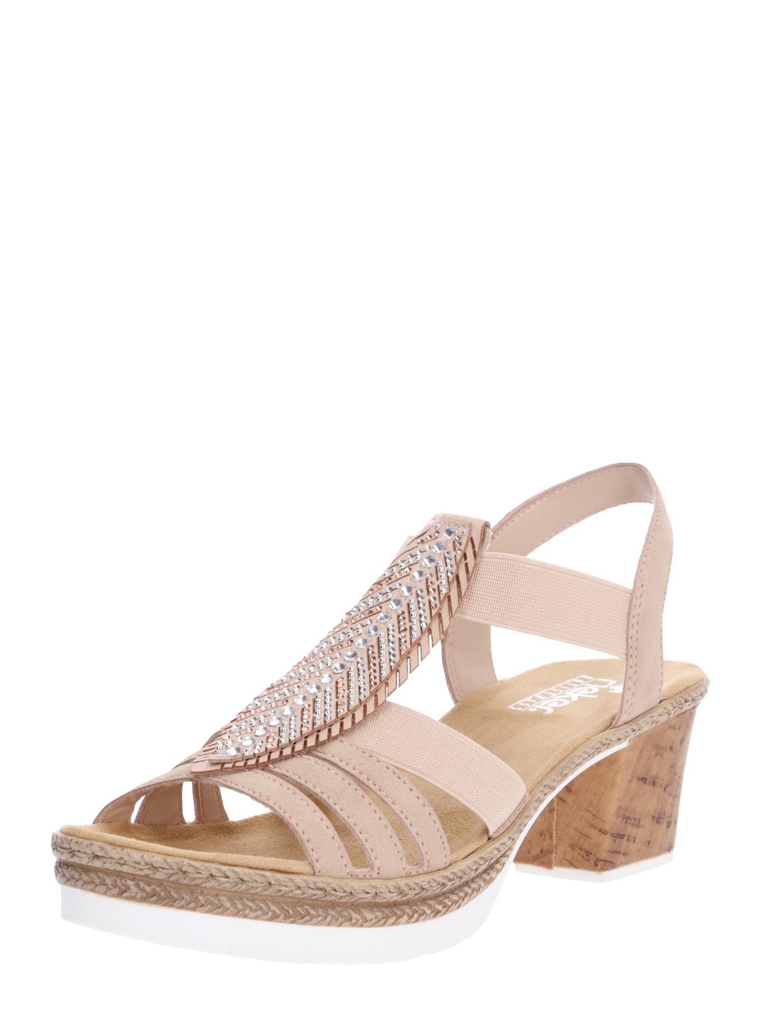 Sandály V29B6-31 starorůžová RIEKER