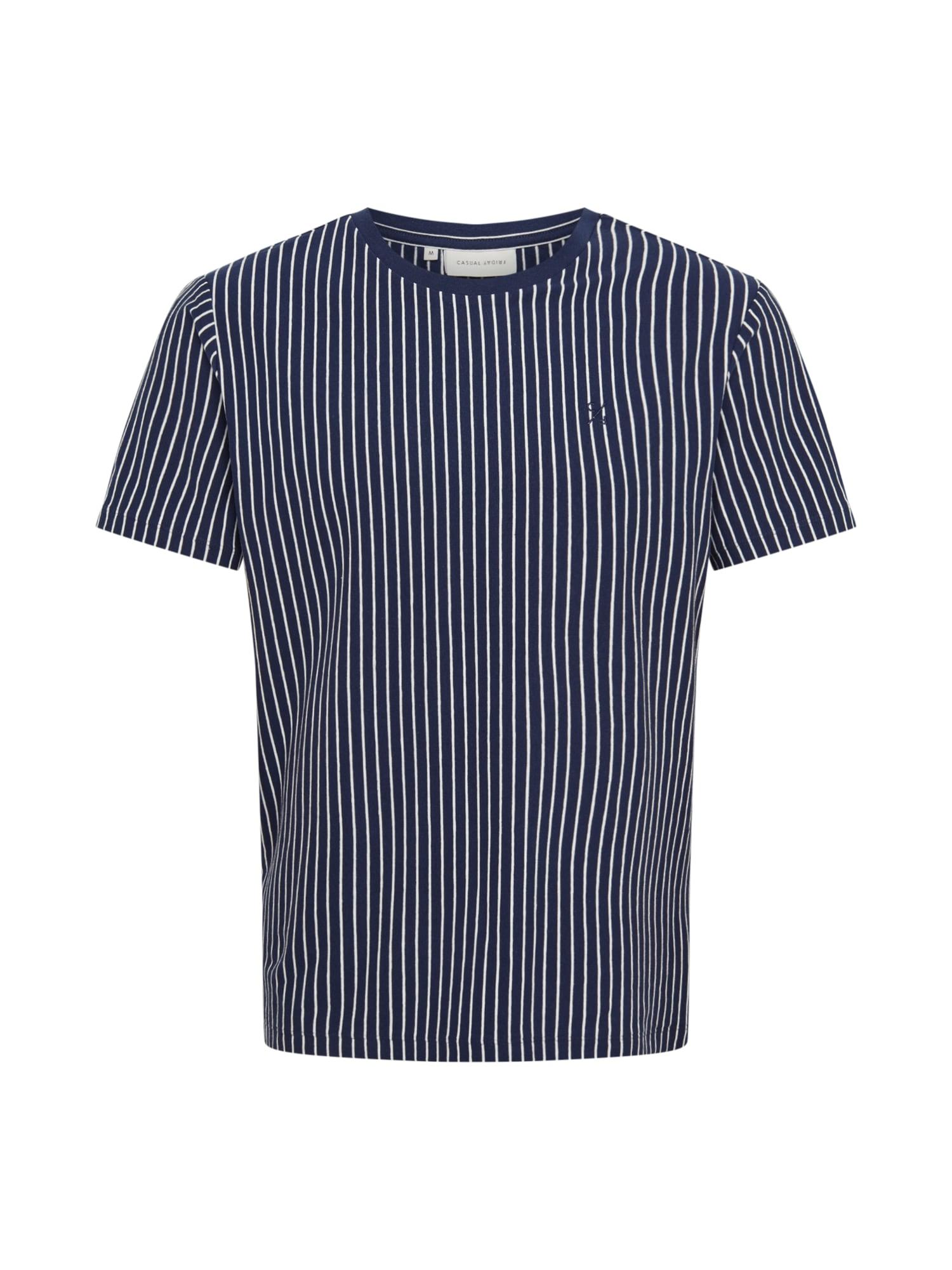 Casual Friday Marškinėliai 'Texas' balta / tamsiai mėlyna