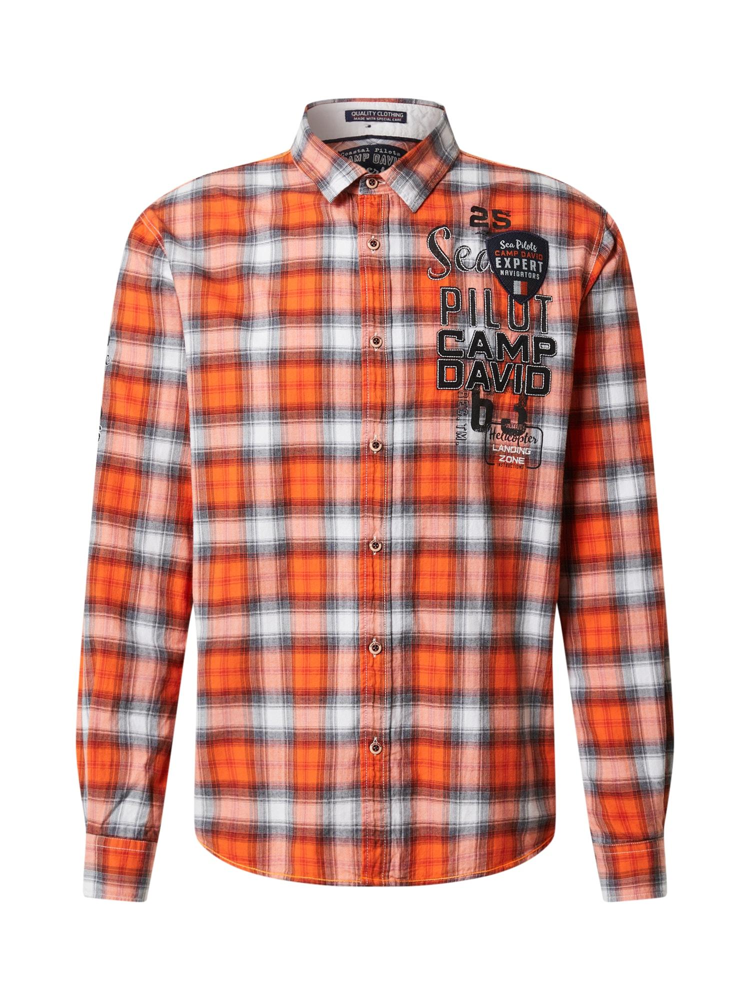 CAMP DAVID Marškiniai oranžinė / balta