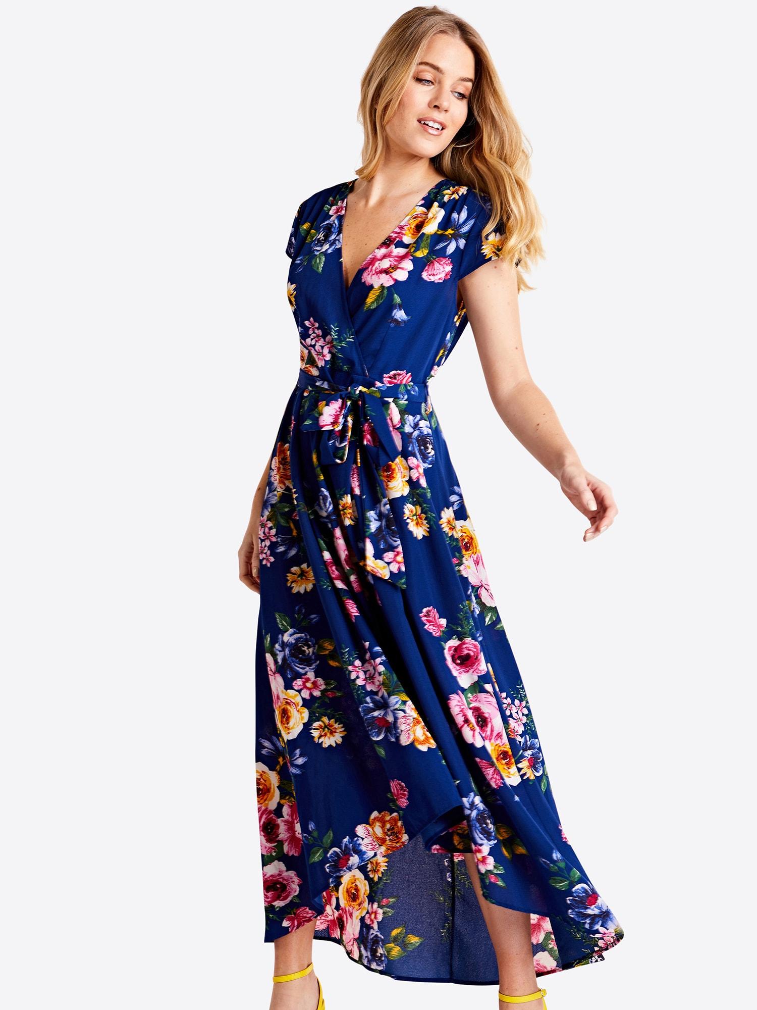 Mela London Vasarinė suknelė tamsiai mėlyna / mišrios spalvos / oranžinė