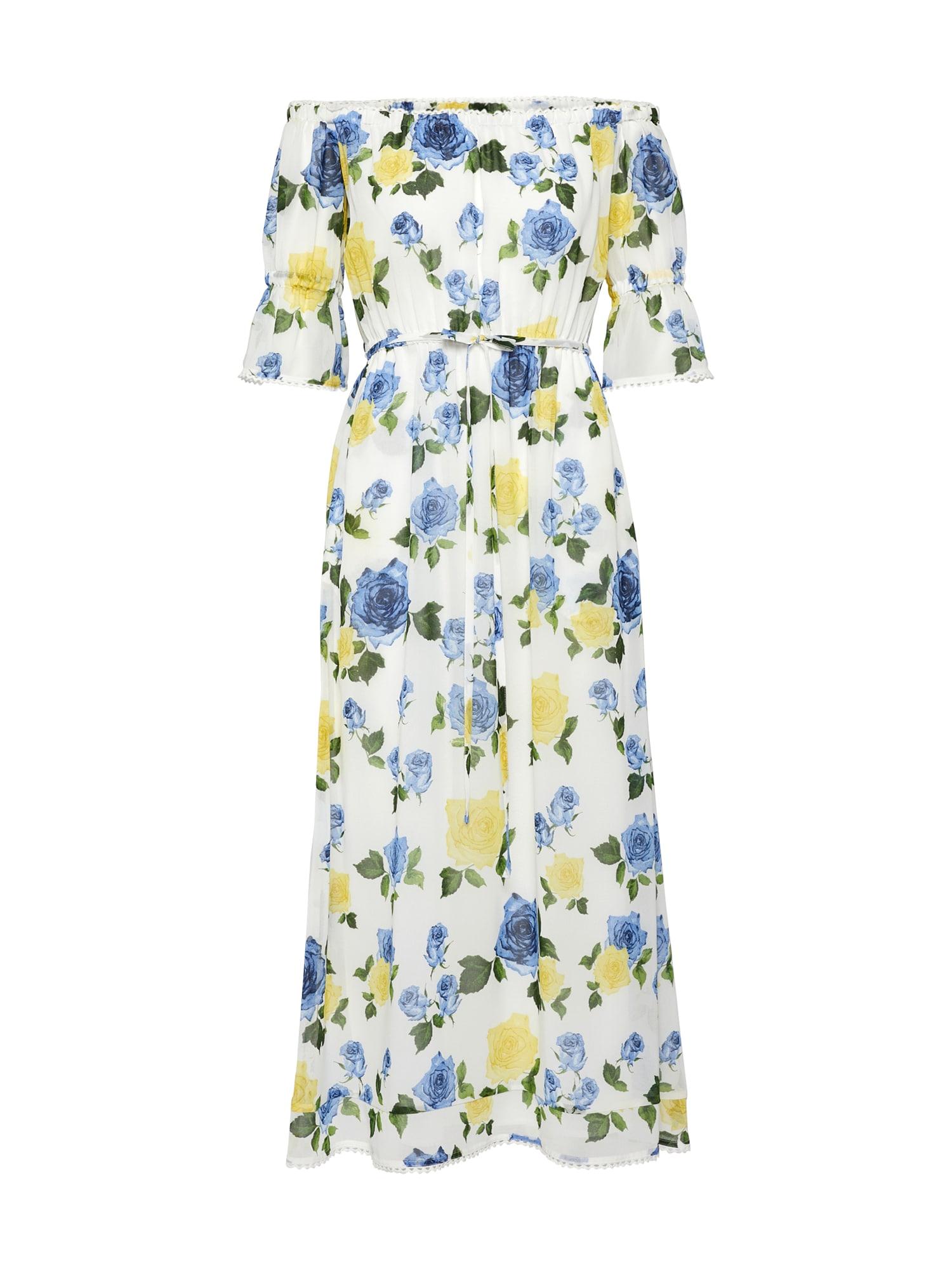 Letní šaty WILD ROSES ON MUSLIN PES MAXI DRESS bílá THE KOOPLES SPORT
