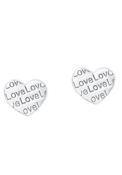Ohrringe für Frauen - S.Oliver RED LABEL Ohrstecker 'Herz Love, 2024318' silber  - Onlineshop ABOUT YOU