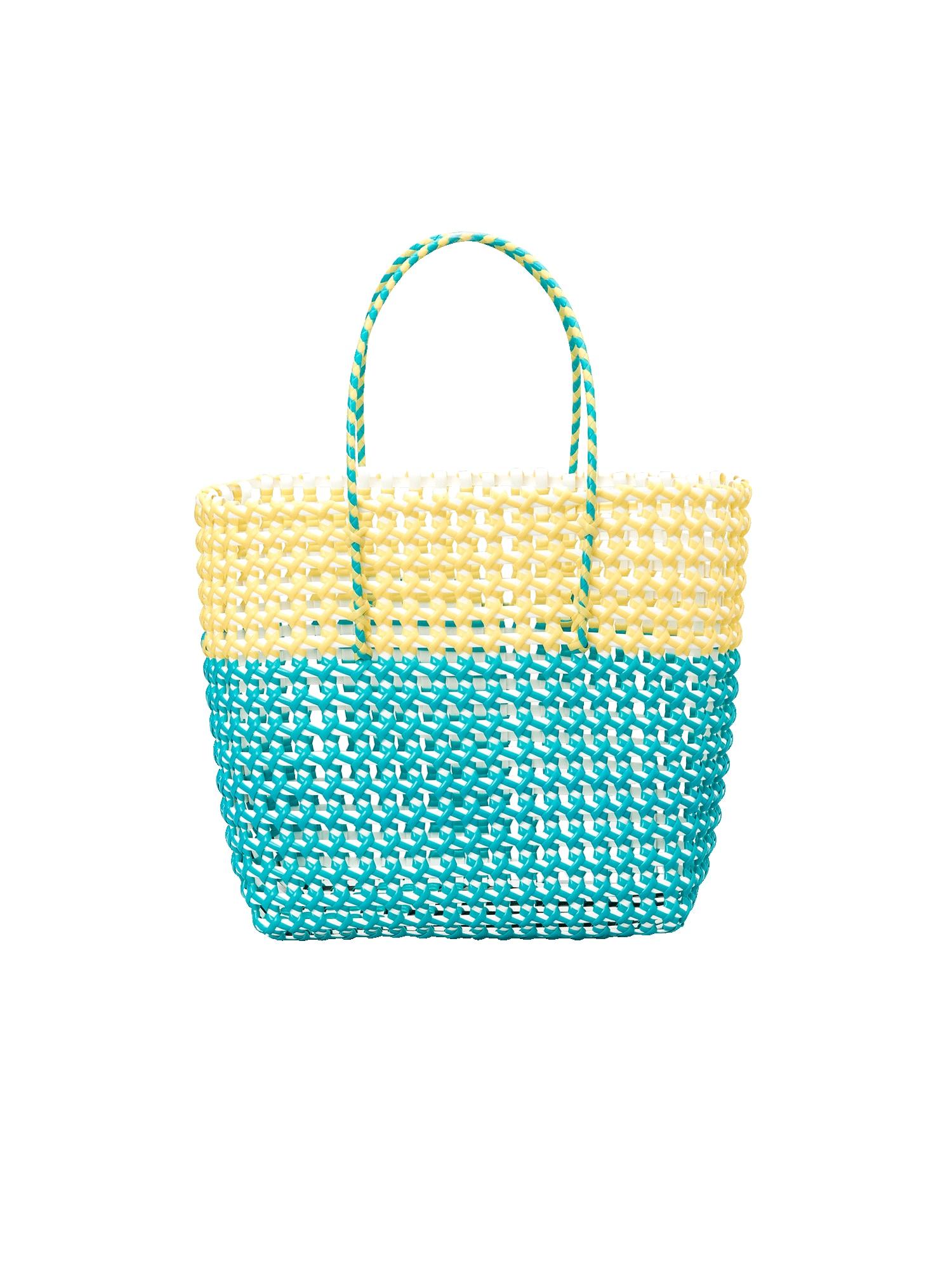 EDITED Pirkinių krepšys 'Yva' geltona / žalia