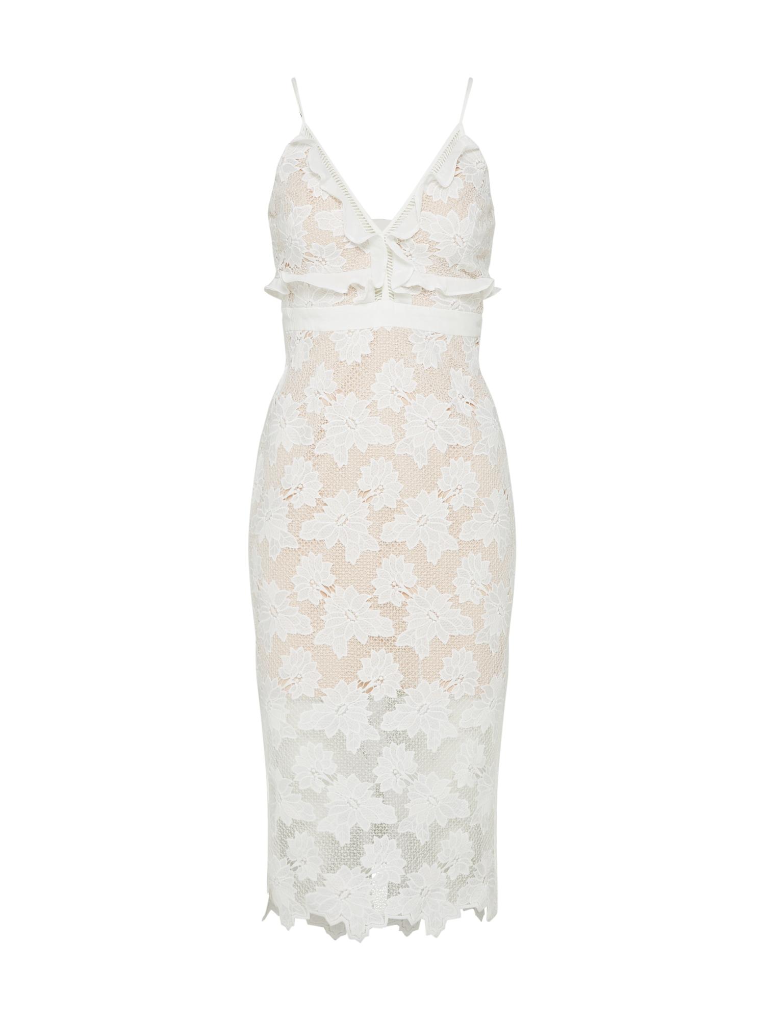 Koktejlové šaty VIENNA slonová kost Bardot