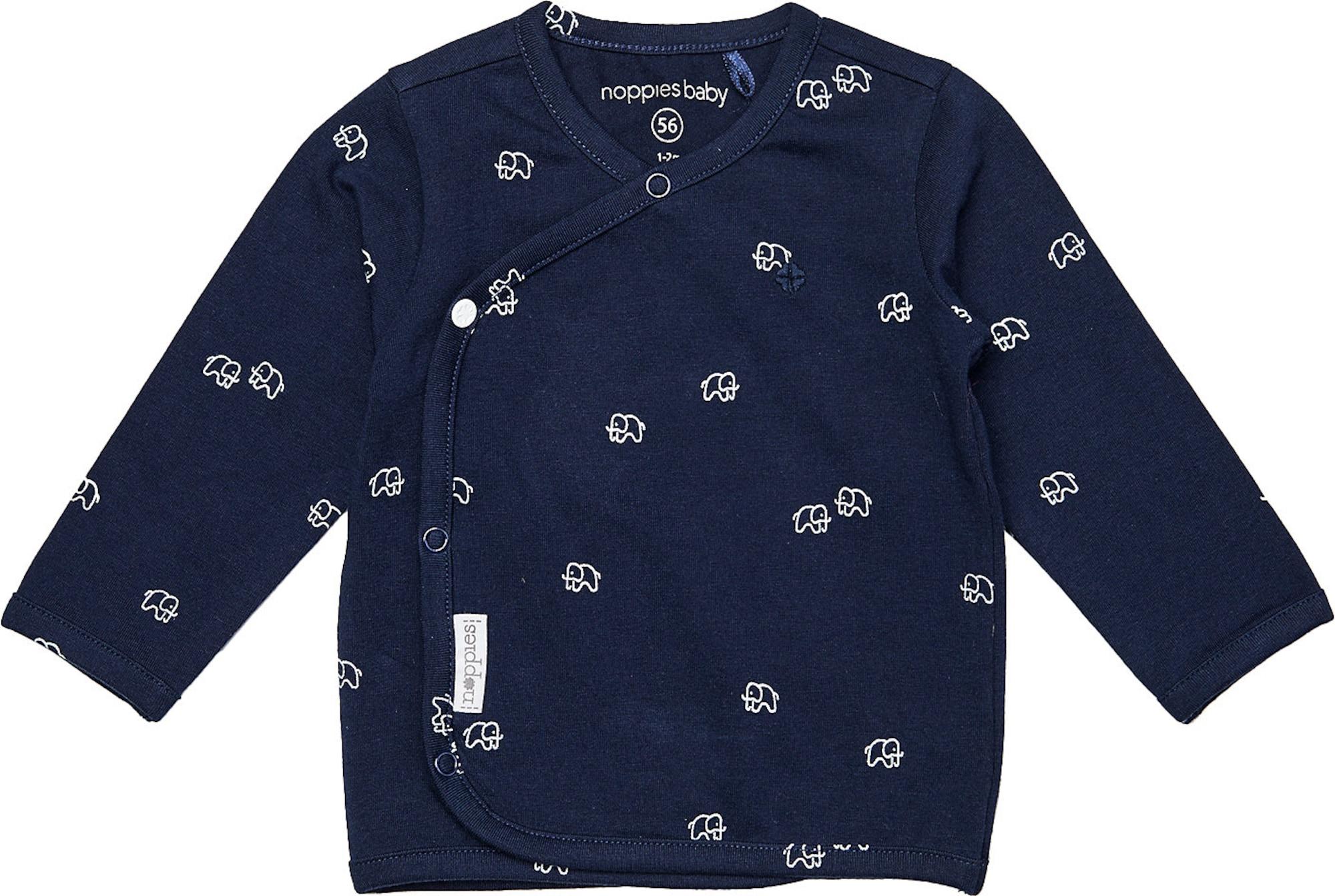 Noppies Marškinėliai 'Jones' balta / tamsiai mėlyna