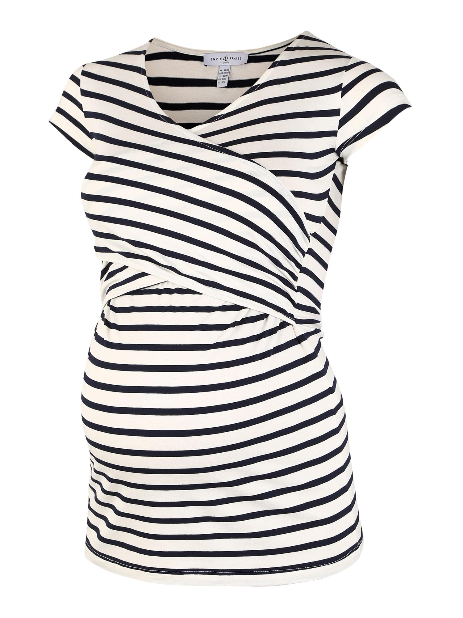 Envie de Fraise Marškinėliai 'FIONA' balta / juoda
