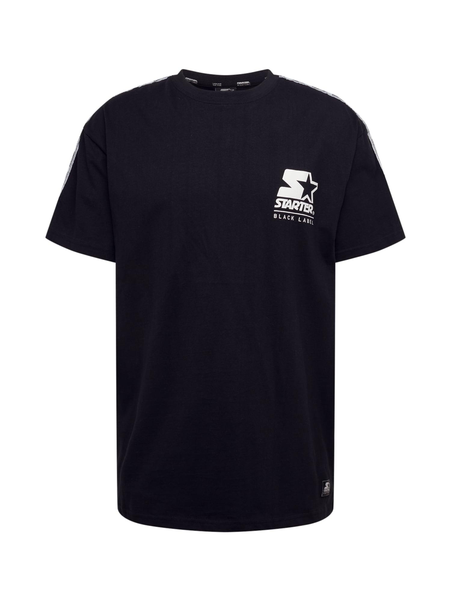Starter Black Label Marškinėliai juoda / balta