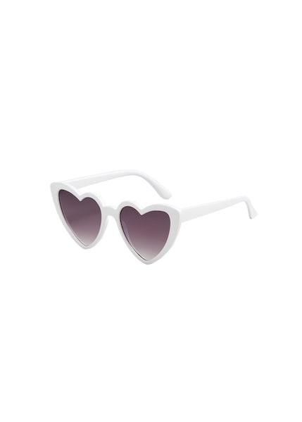 Sonnenbrillen für Frauen - MANGO Sonnenbrille 'Cuore' indigo weiß  - Onlineshop ABOUT YOU