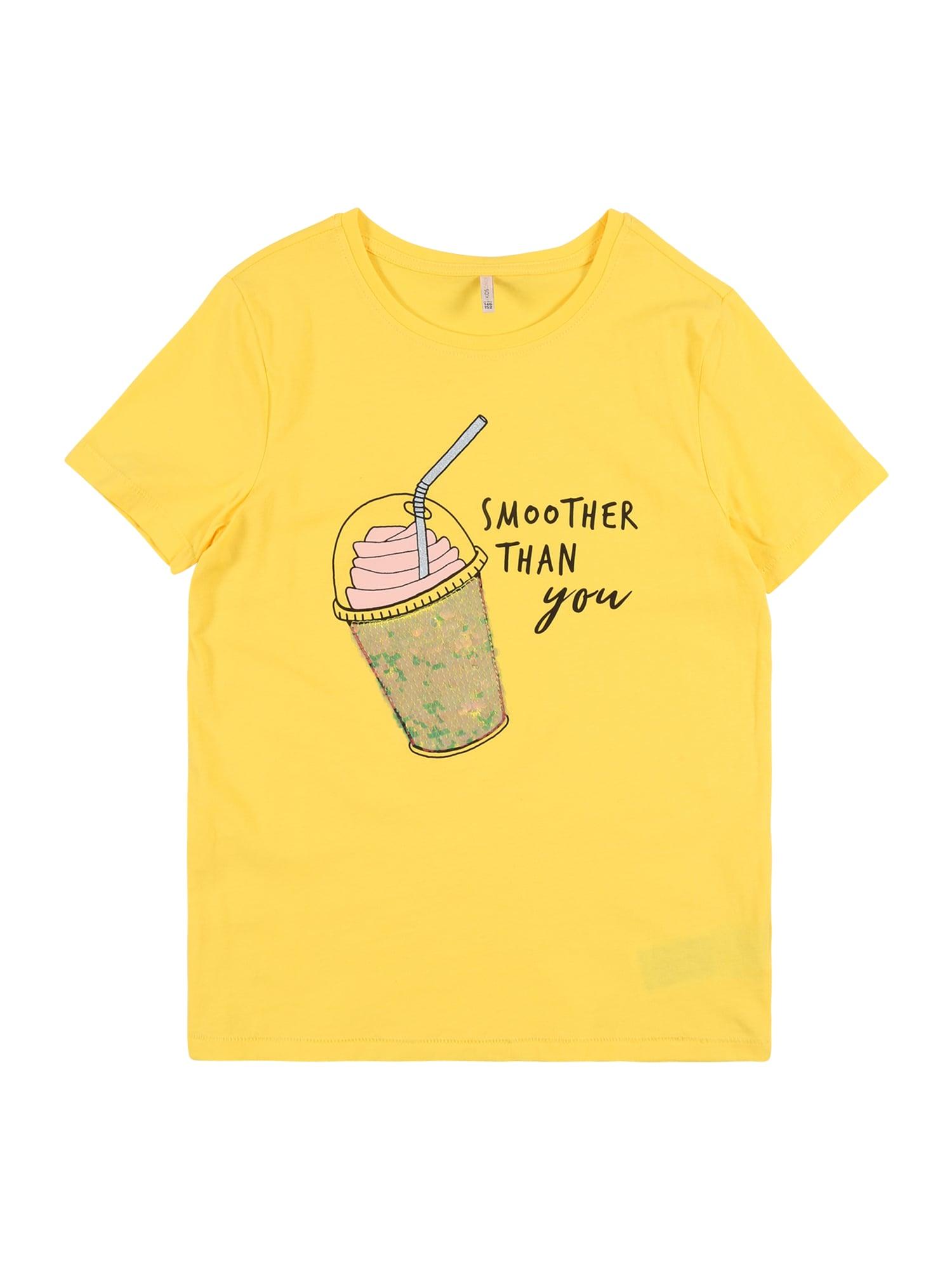 KIDS ONLY Marškinėliai 'KONCINA' geltona