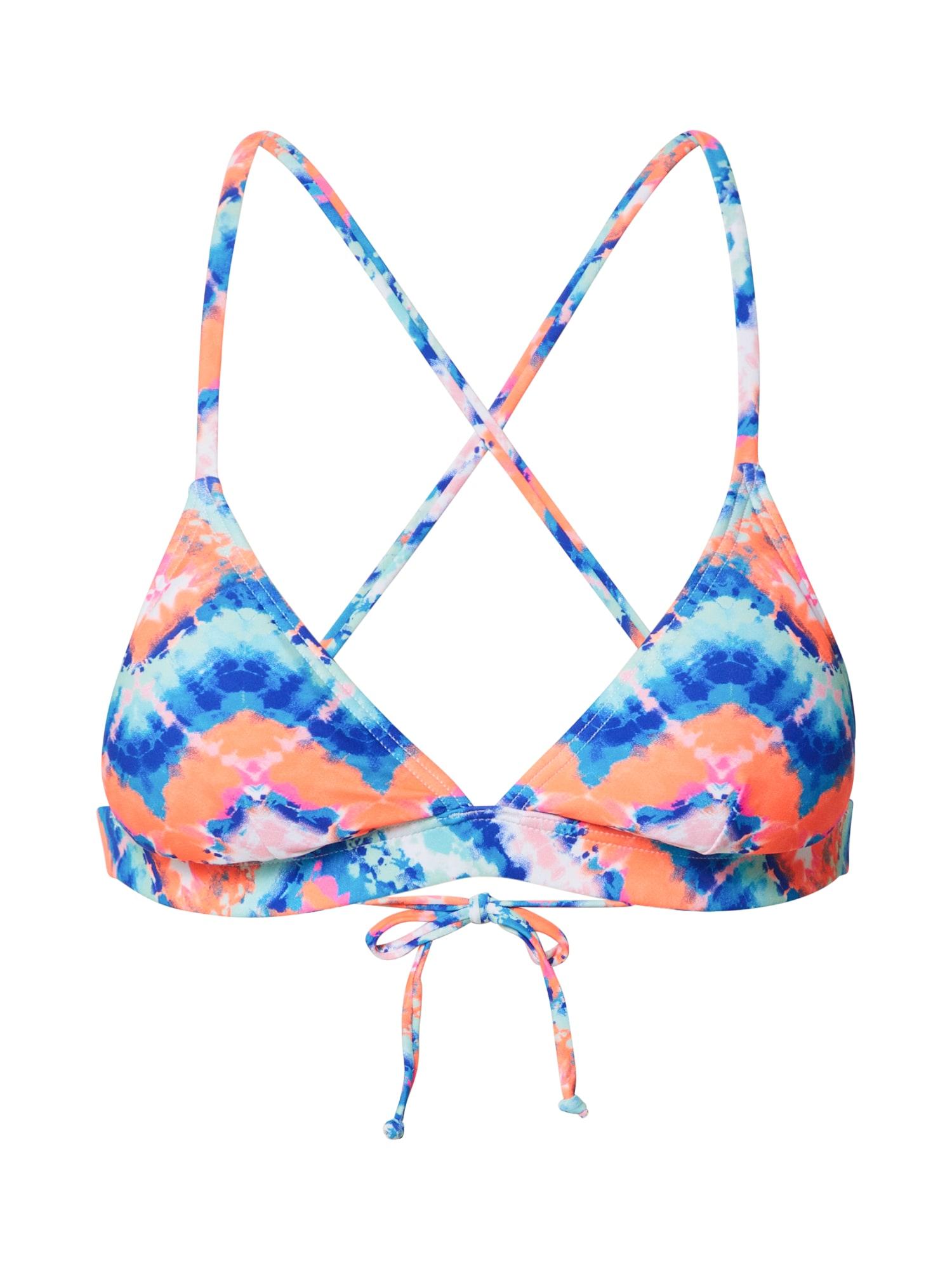 VENICE BEACH Bikinio viršutinė dalis mėlyna / oranžinė
