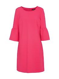 MORE & MORE Damen Volant Kleid pink | 04031663342066
