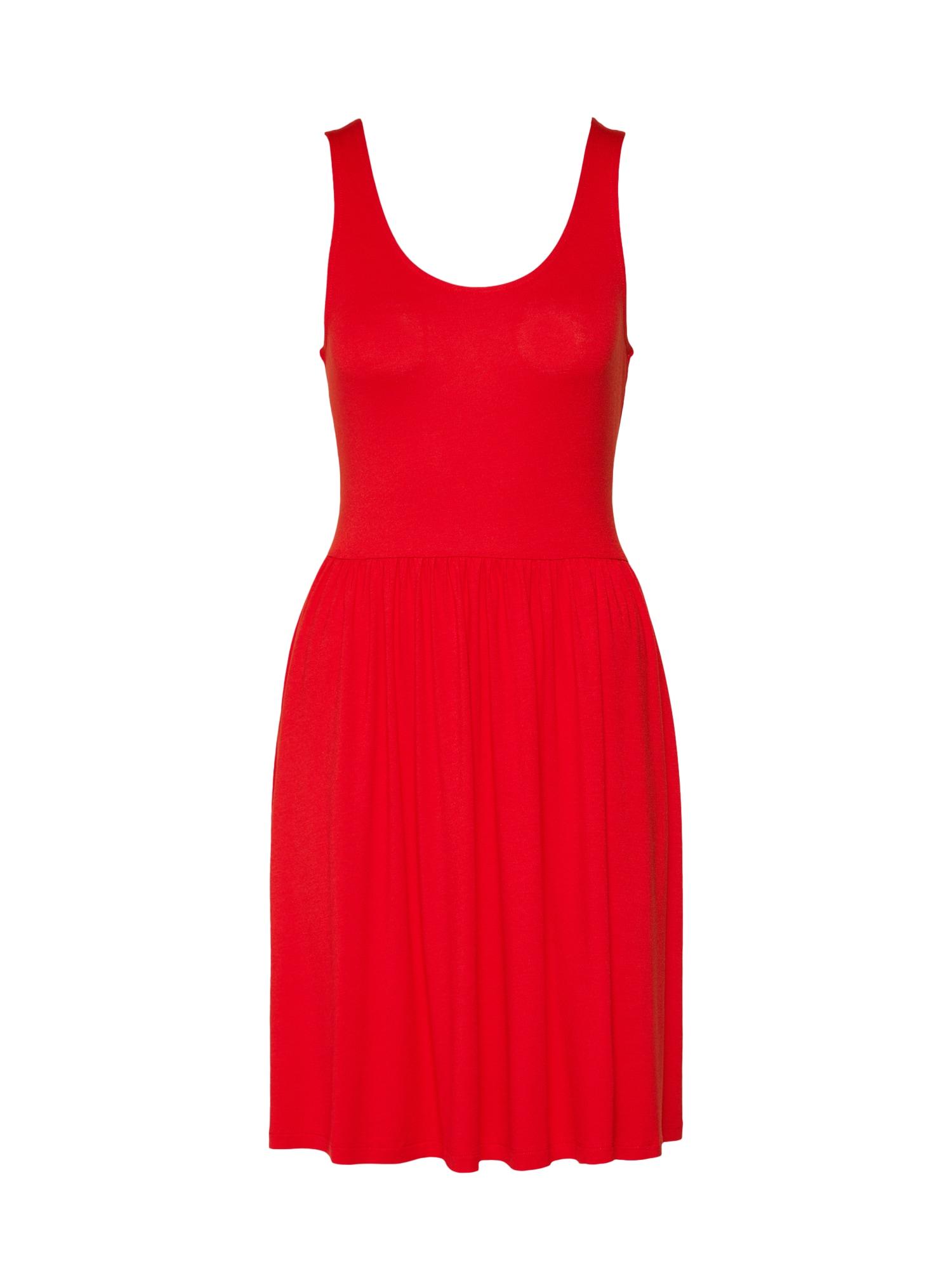 Letní šaty oranžově červená PIECES
