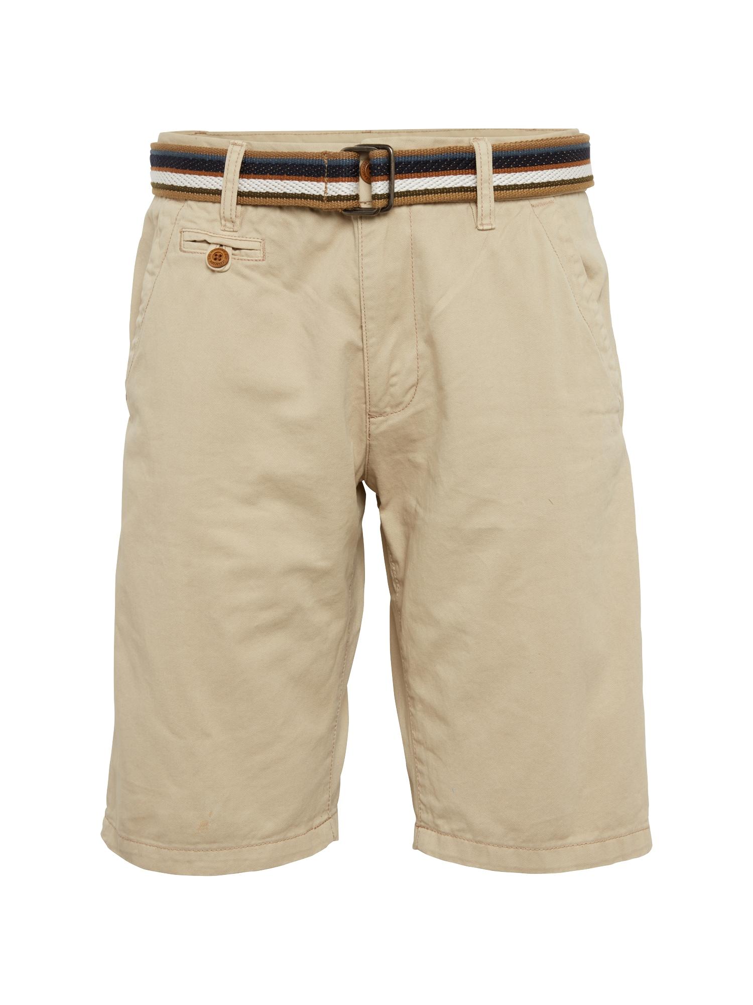 "INDICODE JEANS ""Chino"" stiliaus kelnės 'Royce' gelsvai pilka spalva"