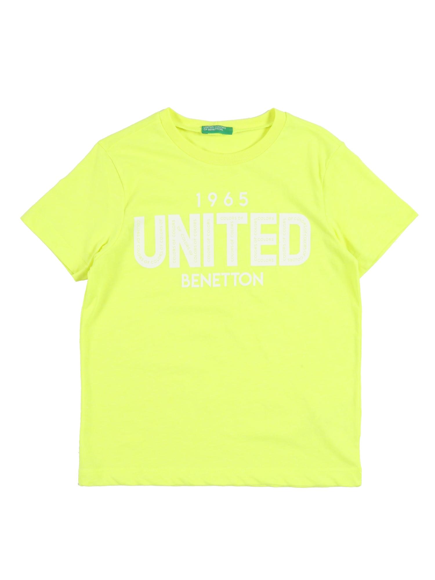 UNITED COLORS OF BENETTON Marškinėliai neoninė geltona