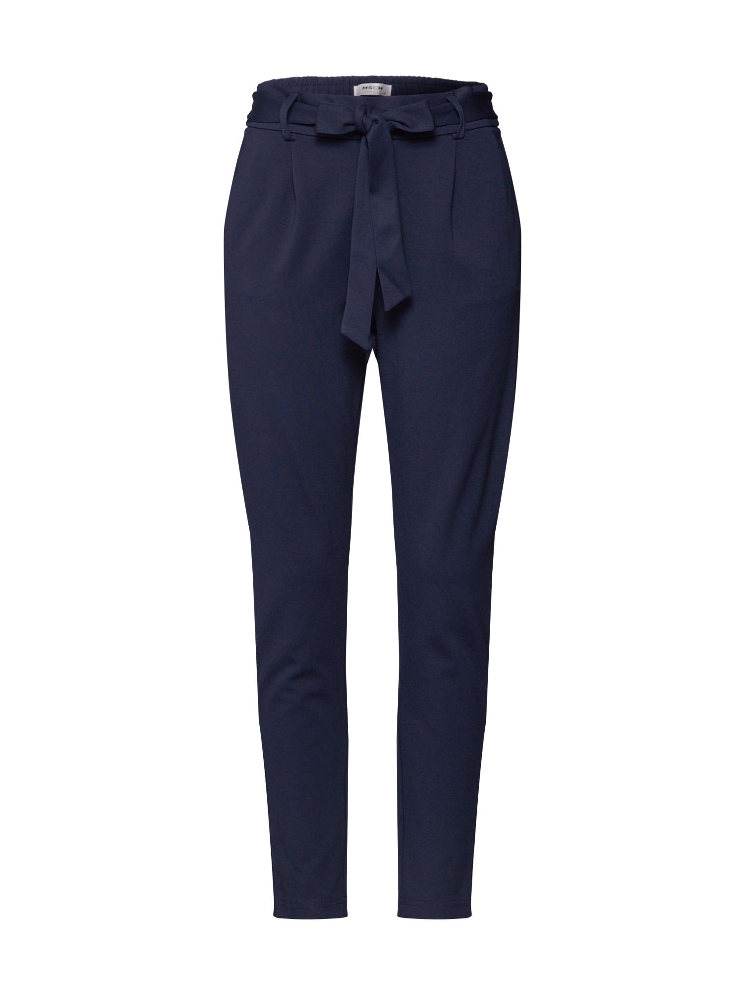 MOSS COPENHAGEN Klostuotos kelnės 'Popye' mėlyna