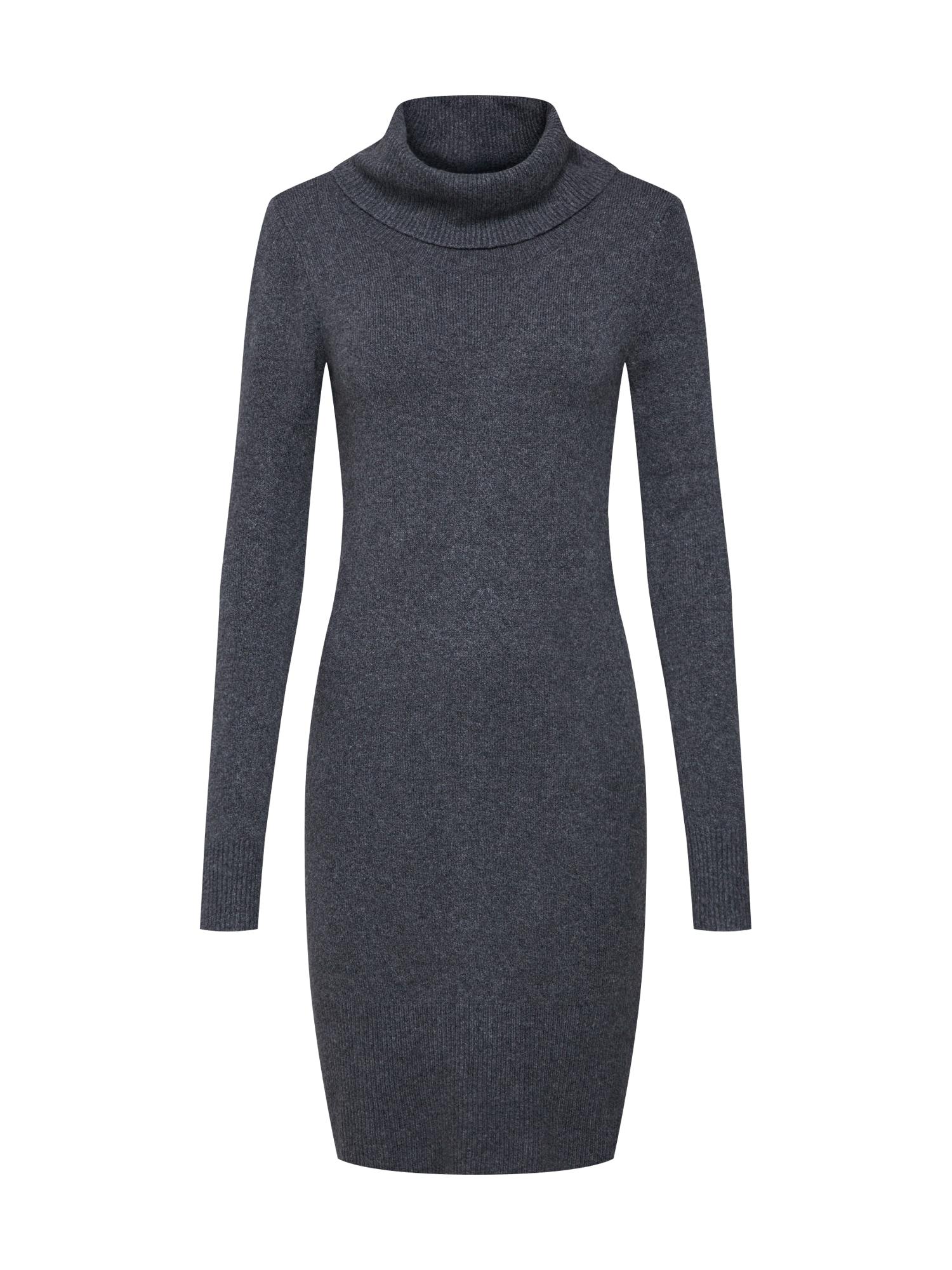Úpletové šaty šedý melír TOM TAILOR