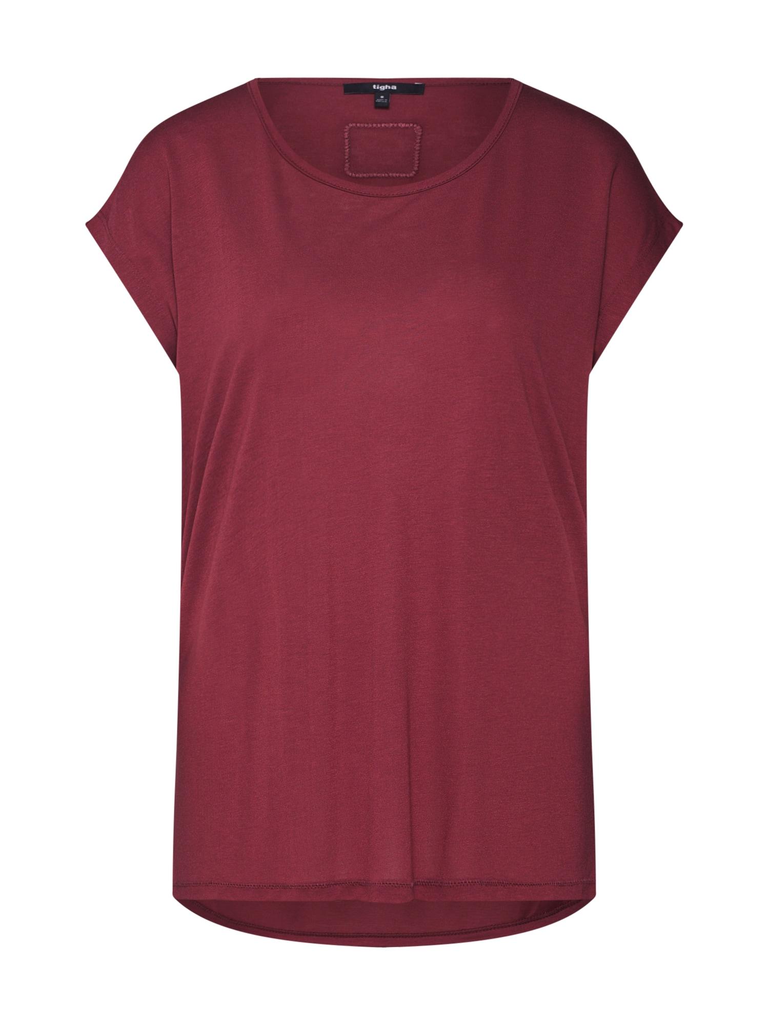 Tričko Effi vínově červená Tigha