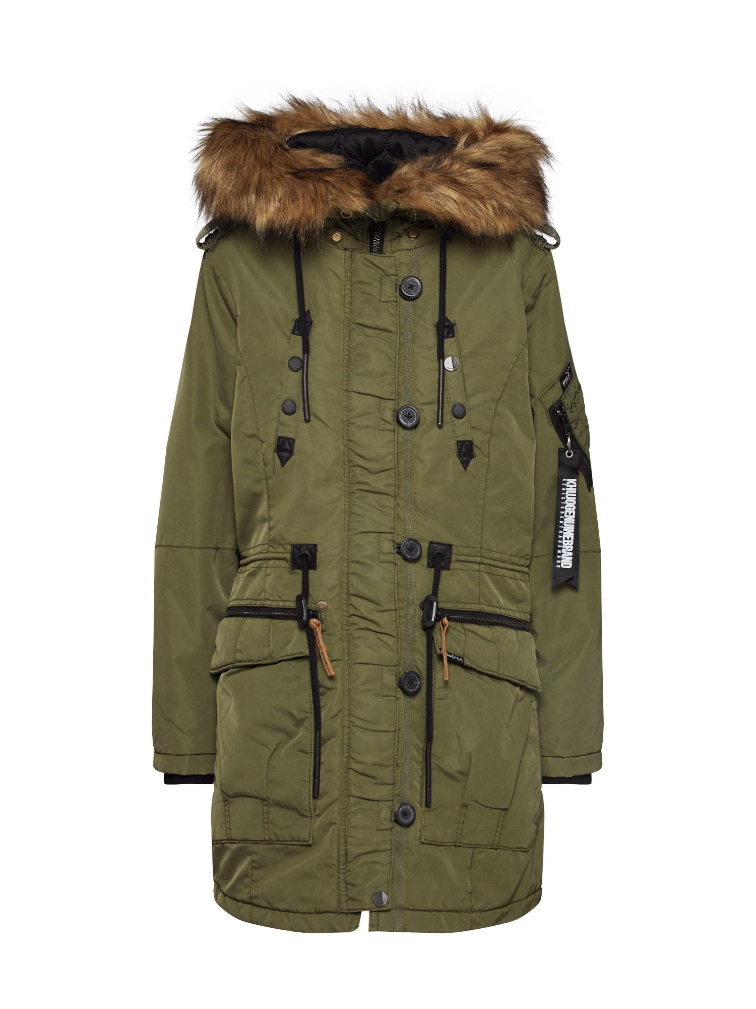 khujo Ilga žieminė striukė 'LORENE' tamsiai žalia