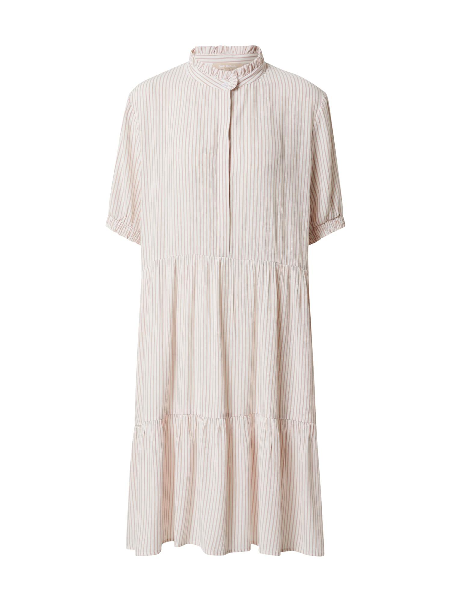 Soft Rebels Vasarinė suknelė 'Allysia' balta / rožių spalva