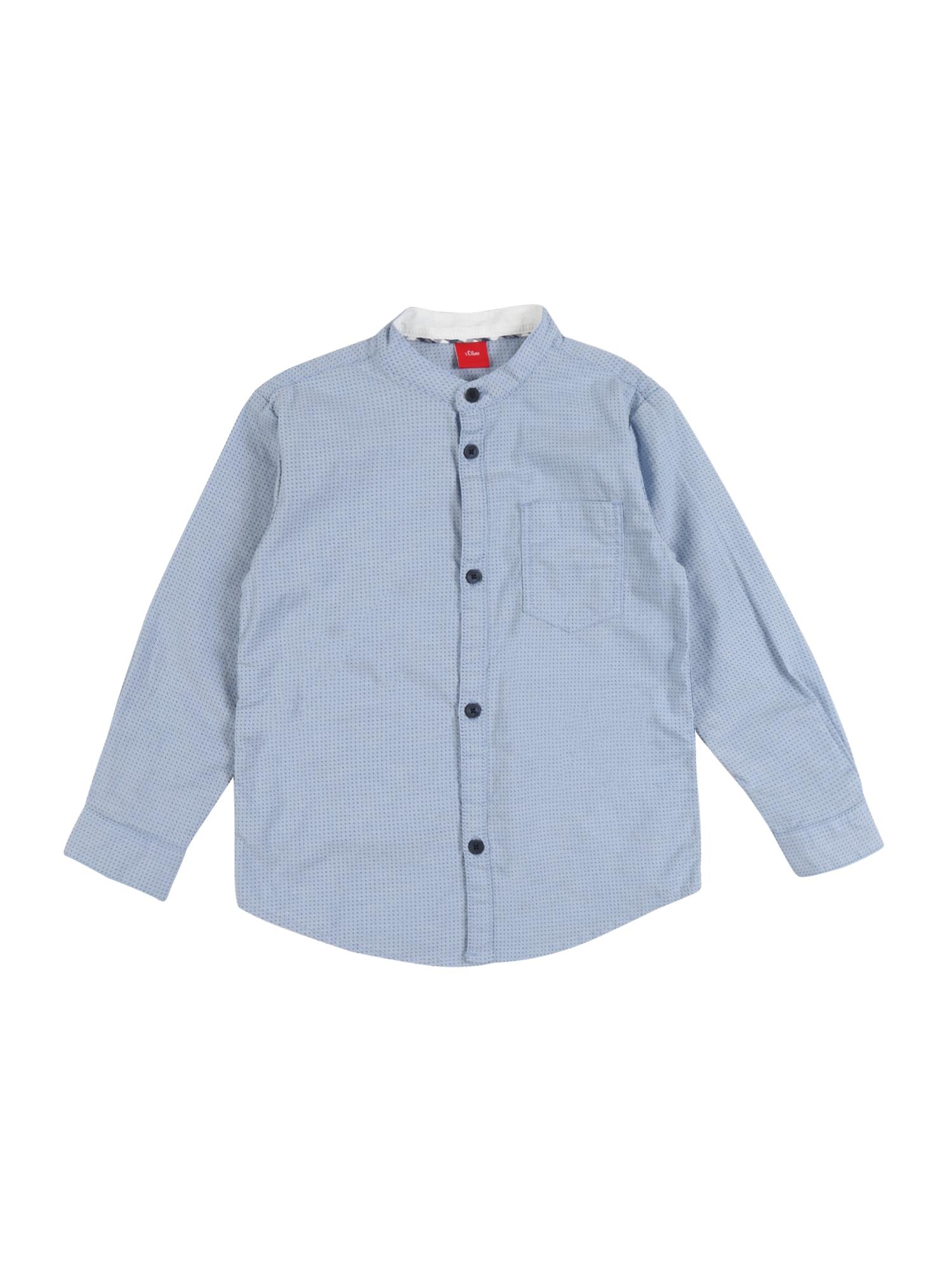 s.Oliver Junior Dalykiniai marškiniai mėlyna / juoda