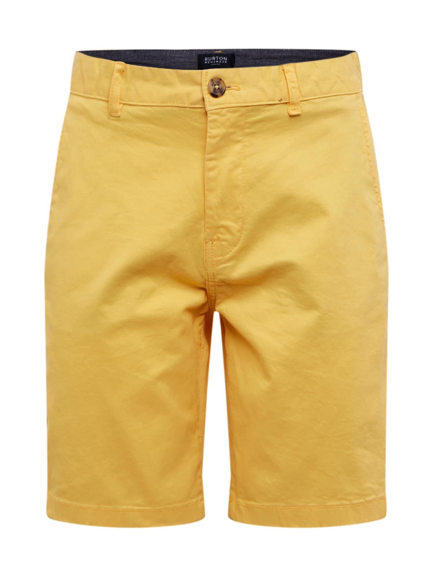 BURTON MENSWEAR LONDON Chino stiliaus kelnės geltona