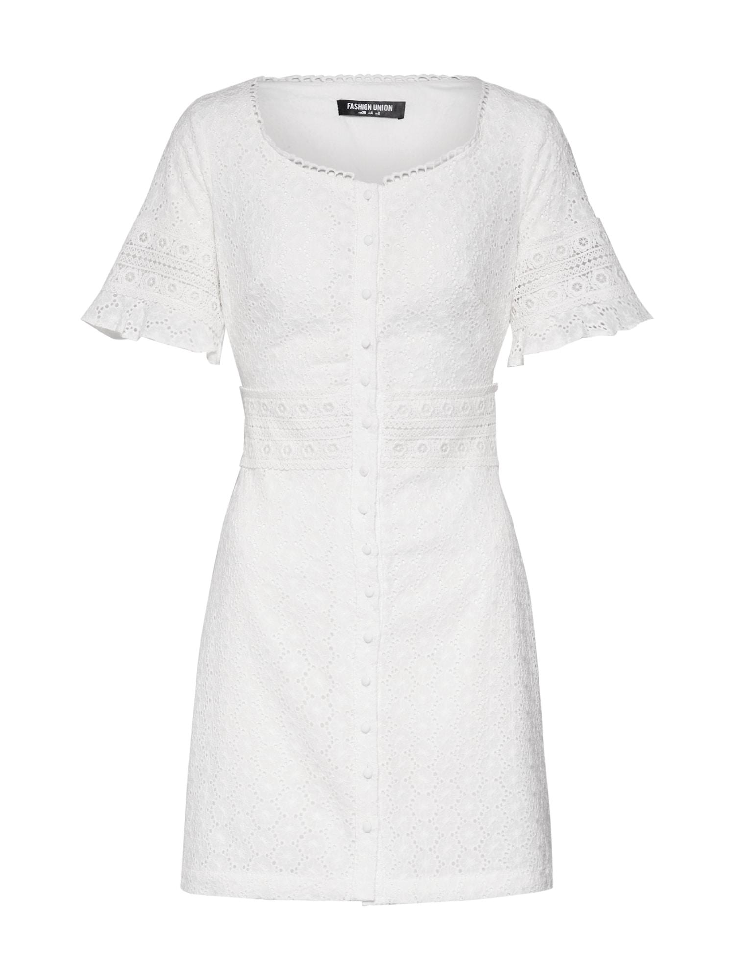 Pouzdrové šaty Marry slonová kost Fashion Union