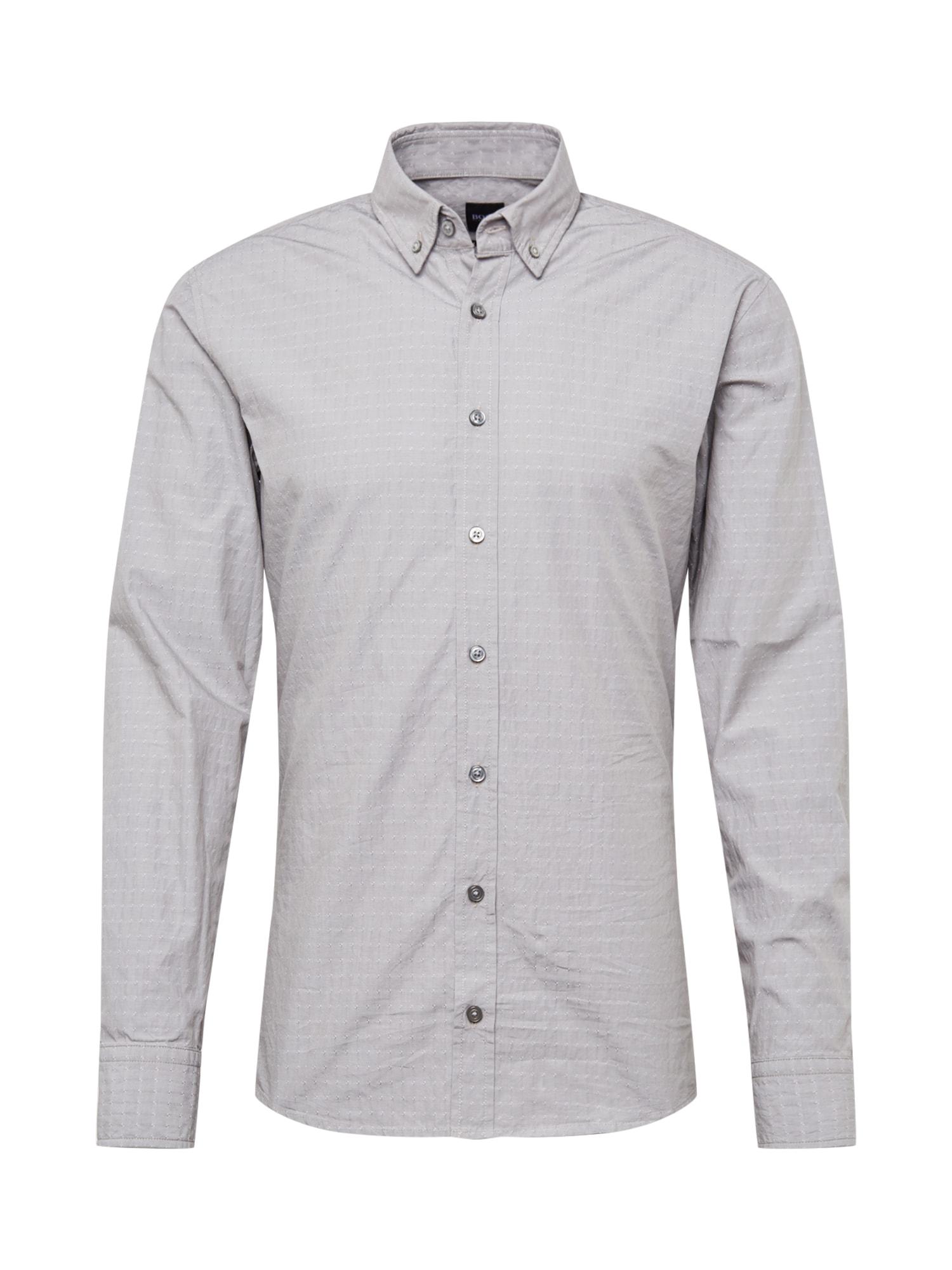 Košile Mabsoot šedá BOSS