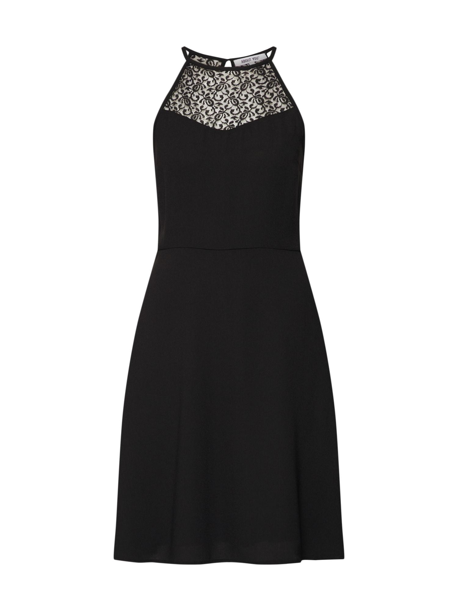 Koktejlové šaty Adele černá ABOUT YOU