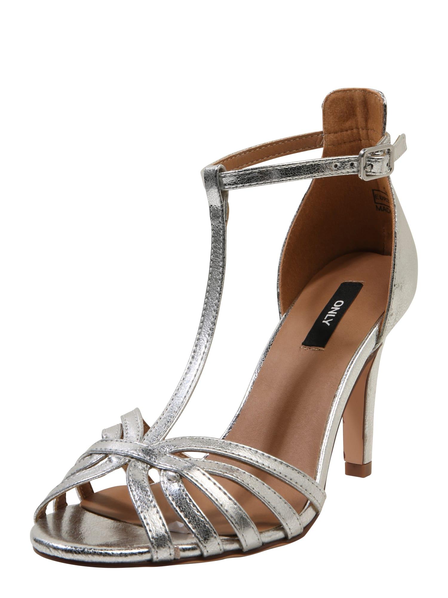 Páskové sandály Abby stříbrná ONLY