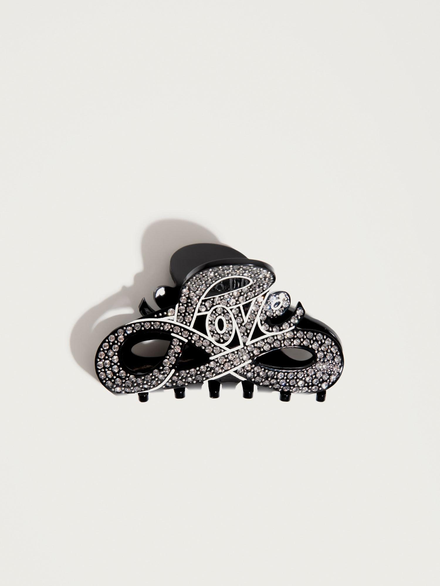 Šperky do vlasů Love černá stříbrná Pico For EDITED